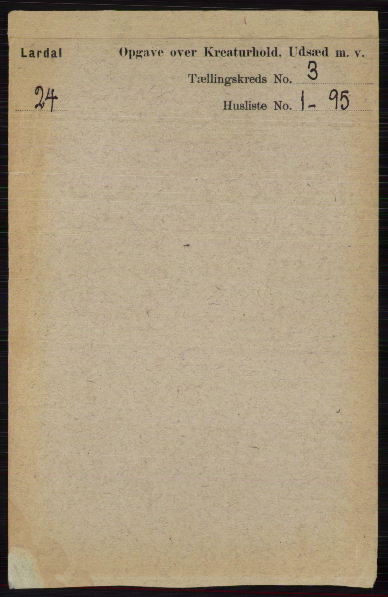 RA, Folketelling 1891 for 0728 Lardal herred, 1891, s. 3605