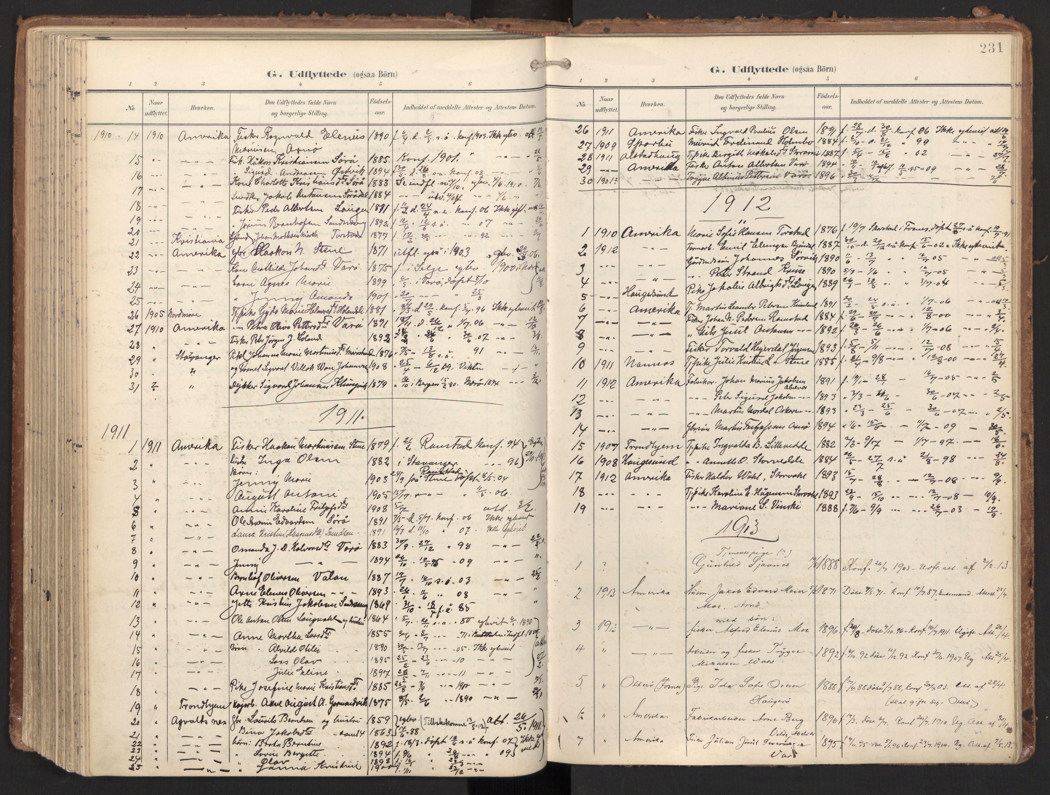SAT, Ministerialprotokoller, klokkerbøker og fødselsregistre - Nord-Trøndelag, 784/L0677: Ministerialbok nr. 784A12, 1900-1920, s. 231
