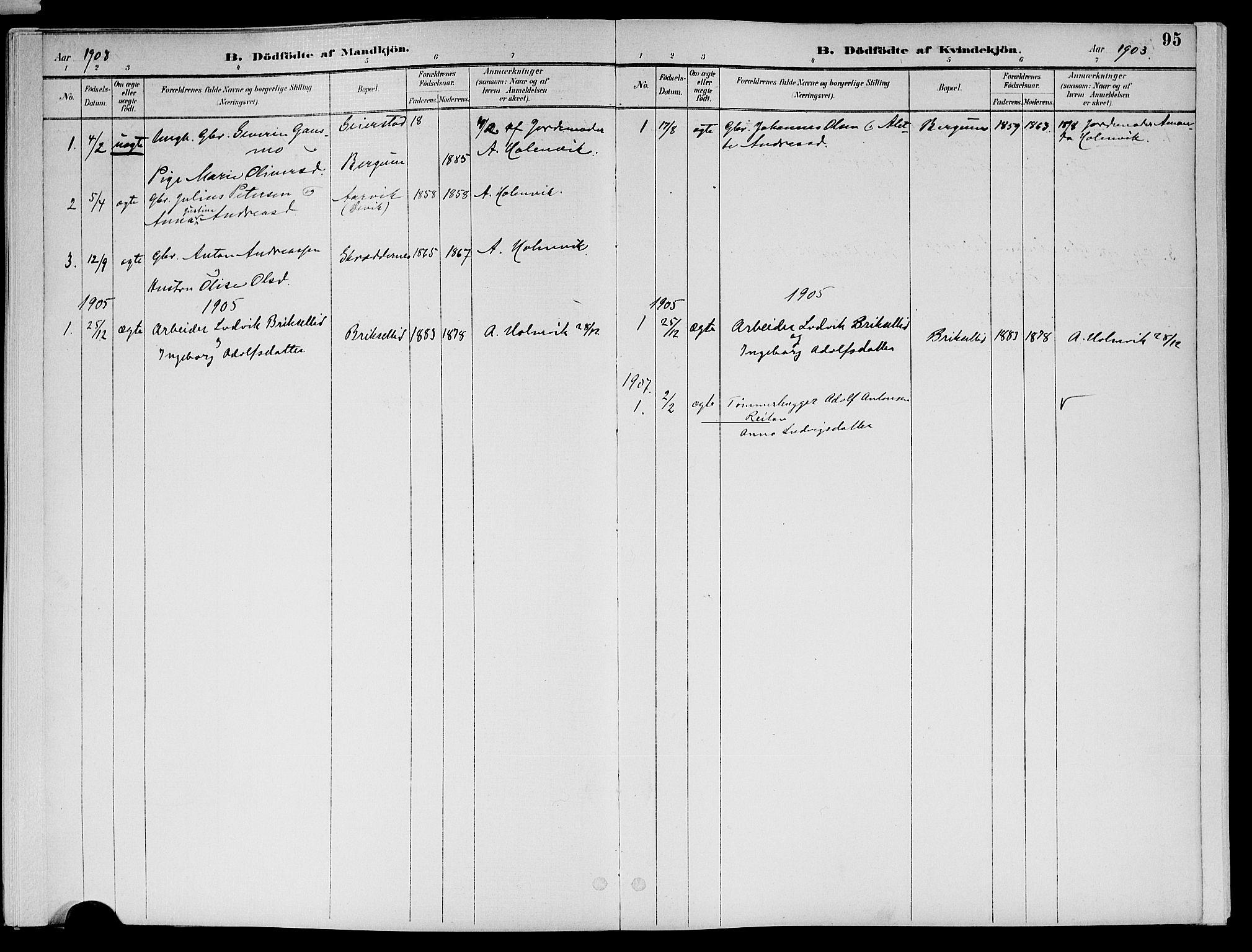 SAT, Ministerialprotokoller, klokkerbøker og fødselsregistre - Nord-Trøndelag, 773/L0617: Ministerialbok nr. 773A08, 1887-1910, s. 95