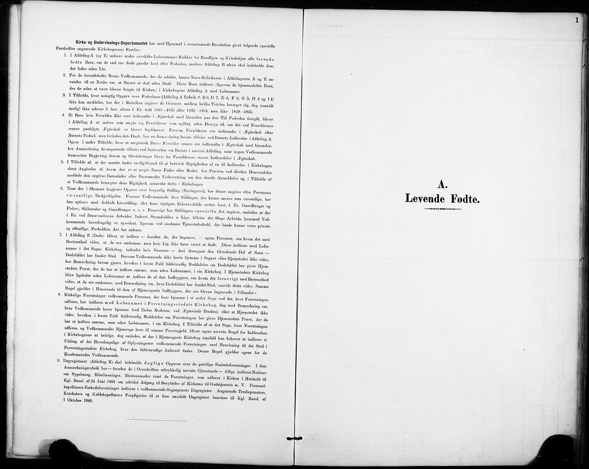 SAKO, Fyresdal kirkebøker, F/Fb/L0003: Ministerialbok nr. II 3, 1887-1903, s. 1