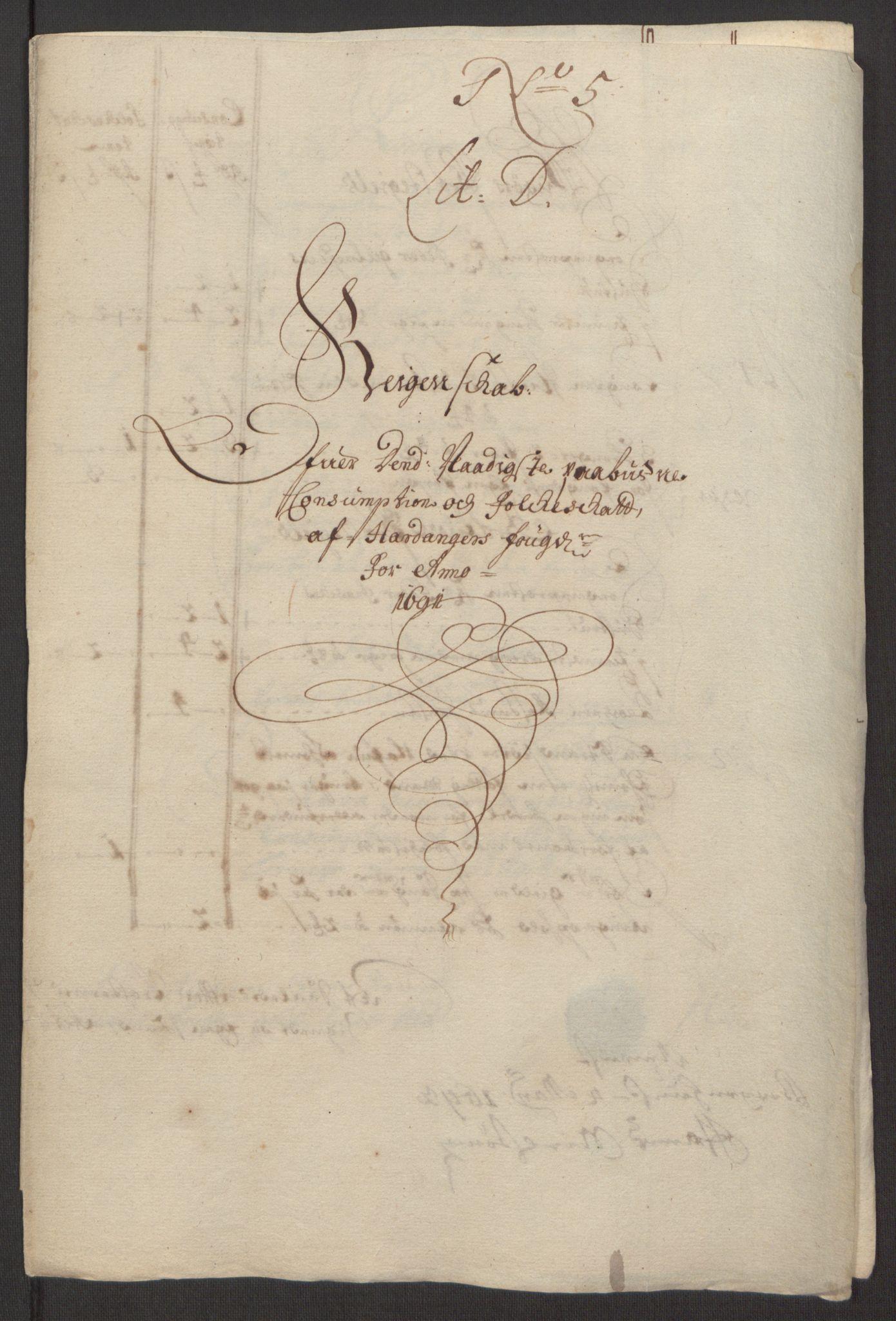 RA, Rentekammeret inntil 1814, Reviderte regnskaper, Fogderegnskap, R48/L2973: Fogderegnskap Sunnhordland og Hardanger, 1691-1692, s. 304