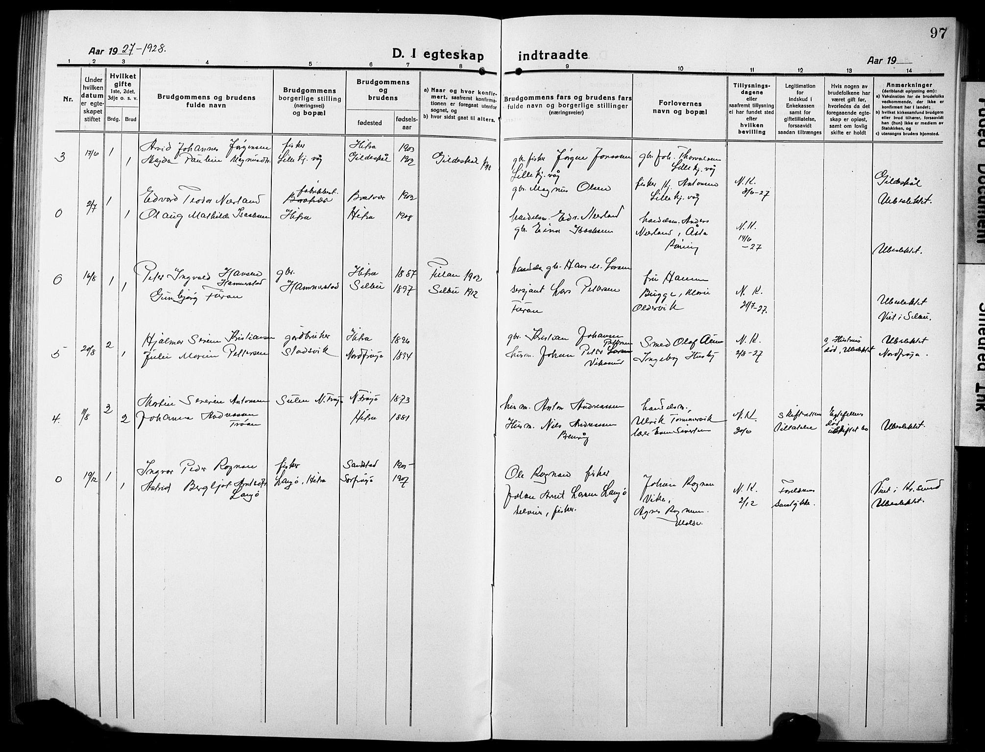 SAT, Ministerialprotokoller, klokkerbøker og fødselsregistre - Sør-Trøndelag, 634/L0543: Klokkerbok nr. 634C05, 1917-1928, s. 97