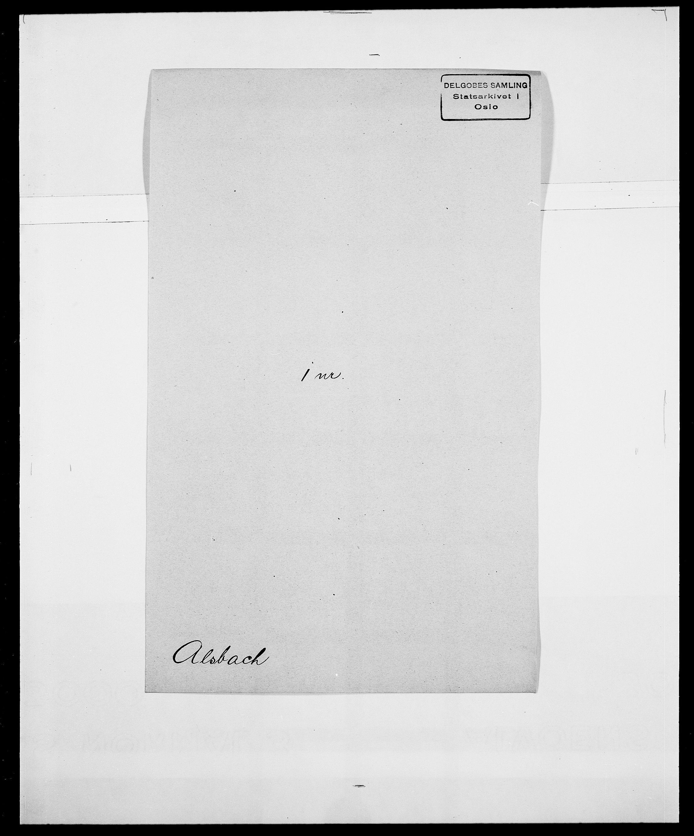 SAO, Delgobe, Charles Antoine - samling, D/Da/L0001: Aabye - Angerman, s. 456
