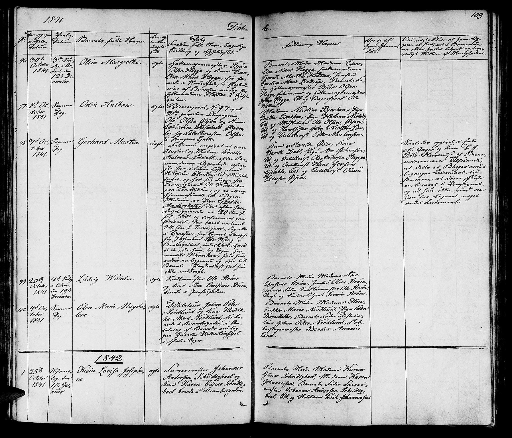 SAT, Ministerialprotokoller, klokkerbøker og fødselsregistre - Sør-Trøndelag, 602/L0136: Klokkerbok nr. 602C04, 1833-1845, s. 109