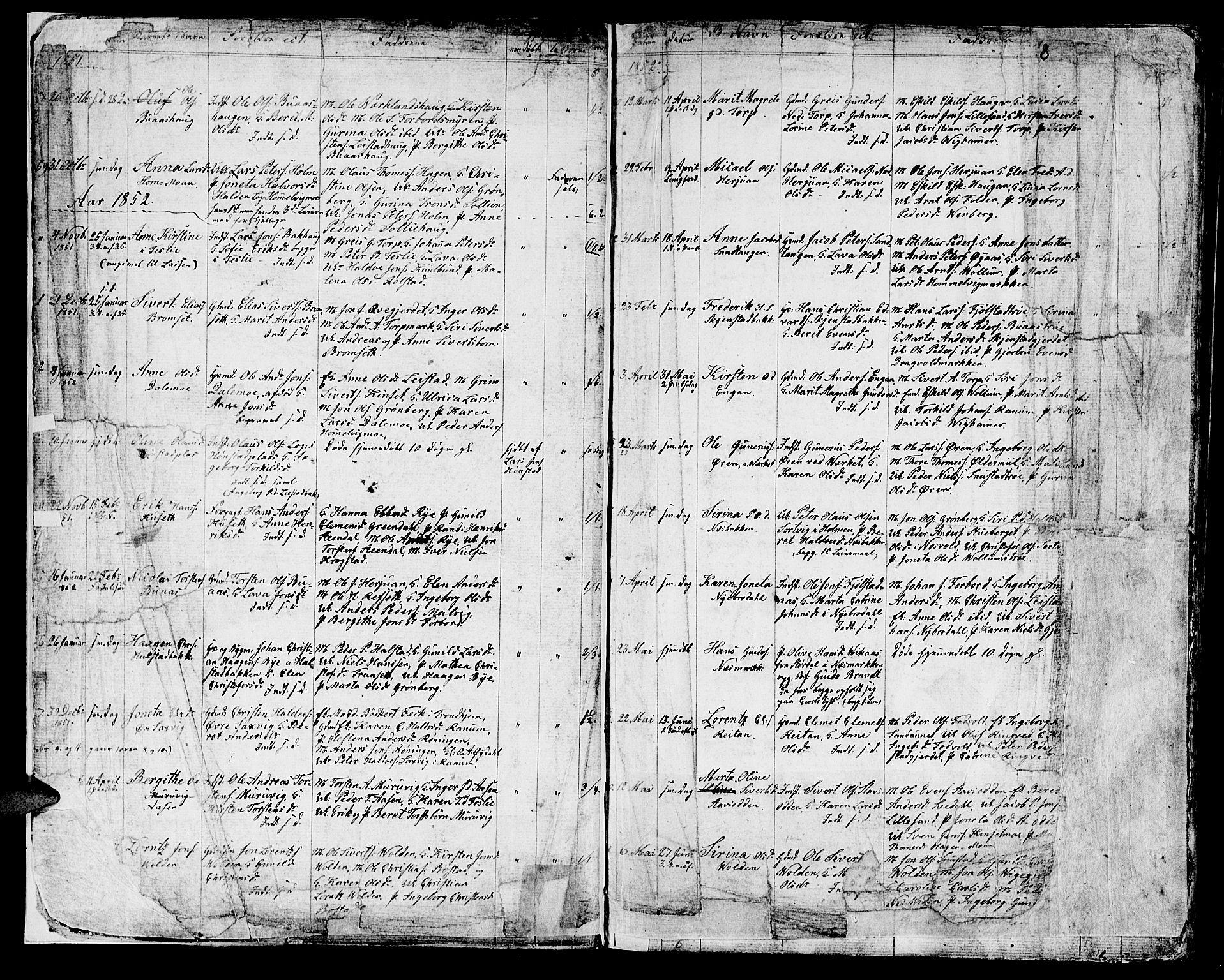 SAT, Ministerialprotokoller, klokkerbøker og fødselsregistre - Sør-Trøndelag, 616/L0422: Klokkerbok nr. 616C05, 1850-1888, s. 6