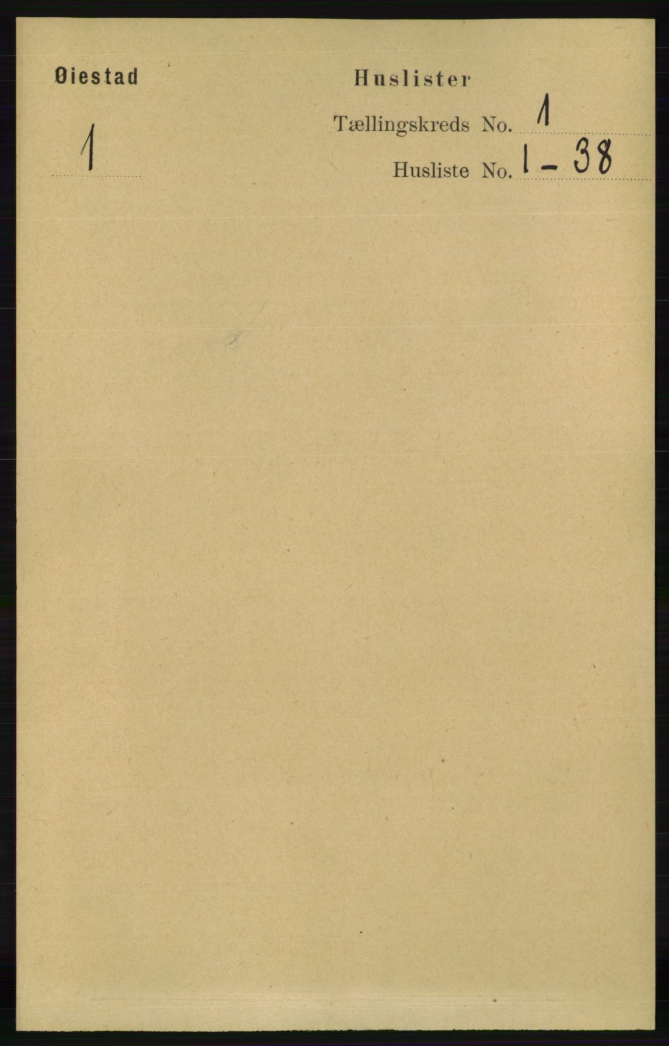 RA, Folketelling 1891 for 0920 Øyestad herred, 1891, s. 29