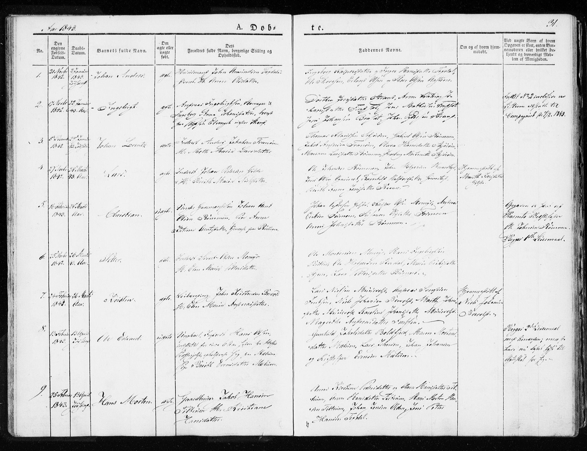 SAT, Ministerialprotokoller, klokkerbøker og fødselsregistre - Sør-Trøndelag, 655/L0676: Ministerialbok nr. 655A05, 1830-1847, s. 31