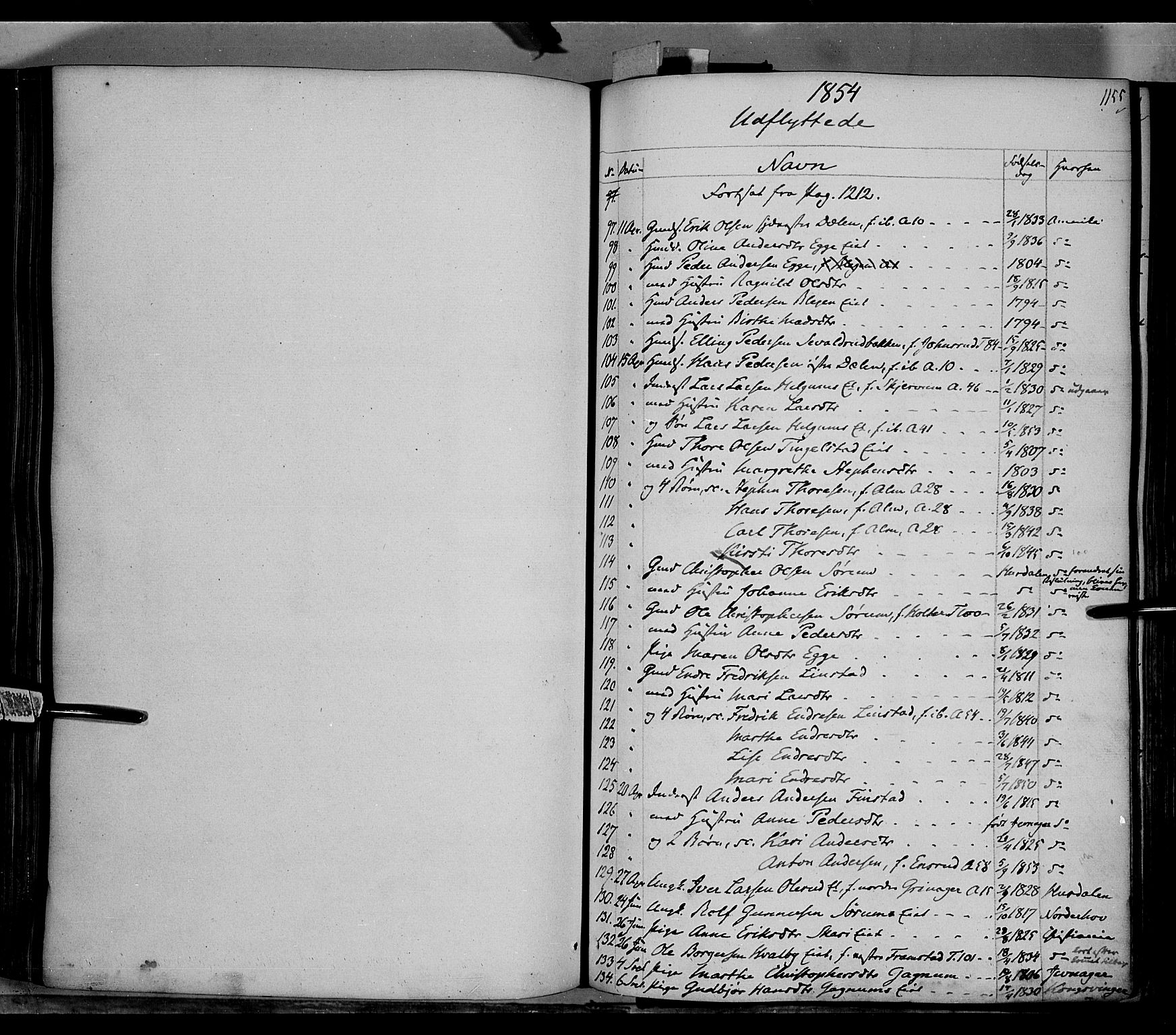SAH, Gran prestekontor, Ministerialbok nr. 11, 1842-1856, s. 1154-1155