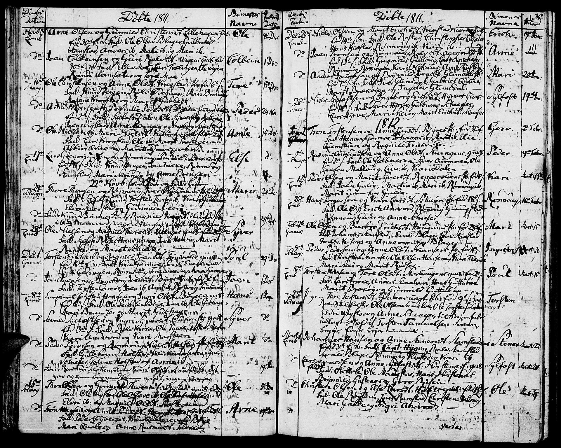 SAH, Lom prestekontor, K/L0003: Ministerialbok nr. 3, 1801-1825, s. 35