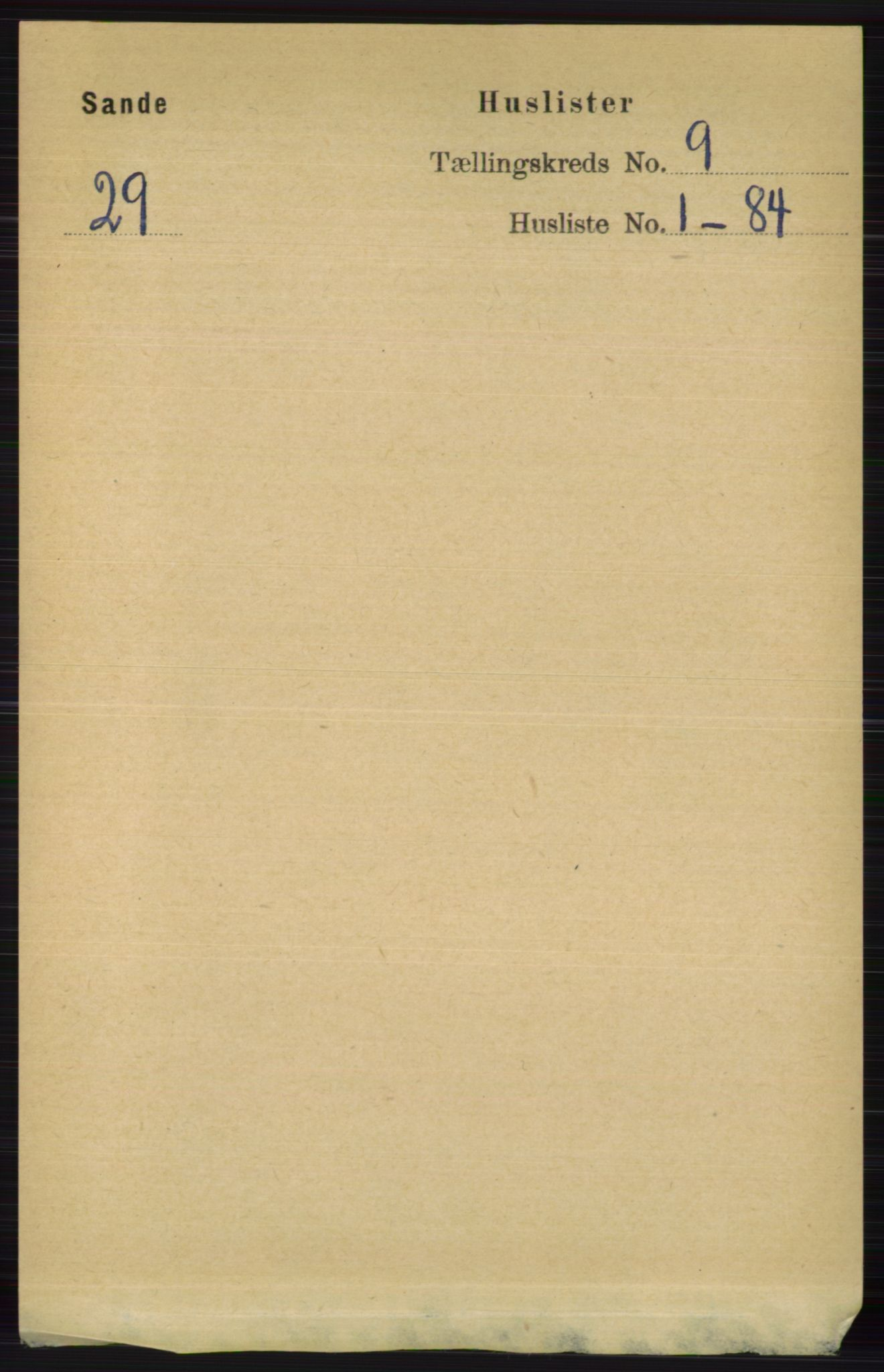 RA, Folketelling 1891 for 0713 Sande herred, 1891, s. 3844