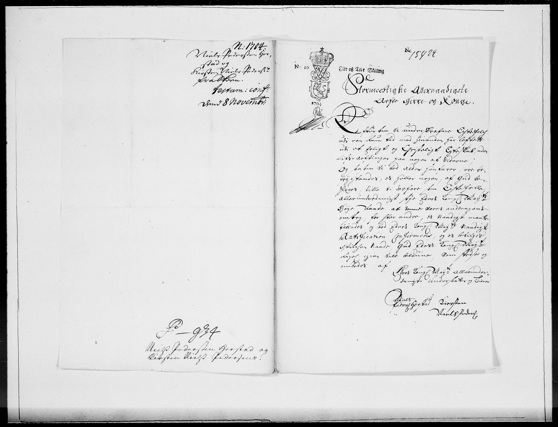 RA, Danske Kanselli 1572-1799, F/Fc/Fcc/Fcca/L0057: Norske innlegg 1572-1799, 1704, s. 430