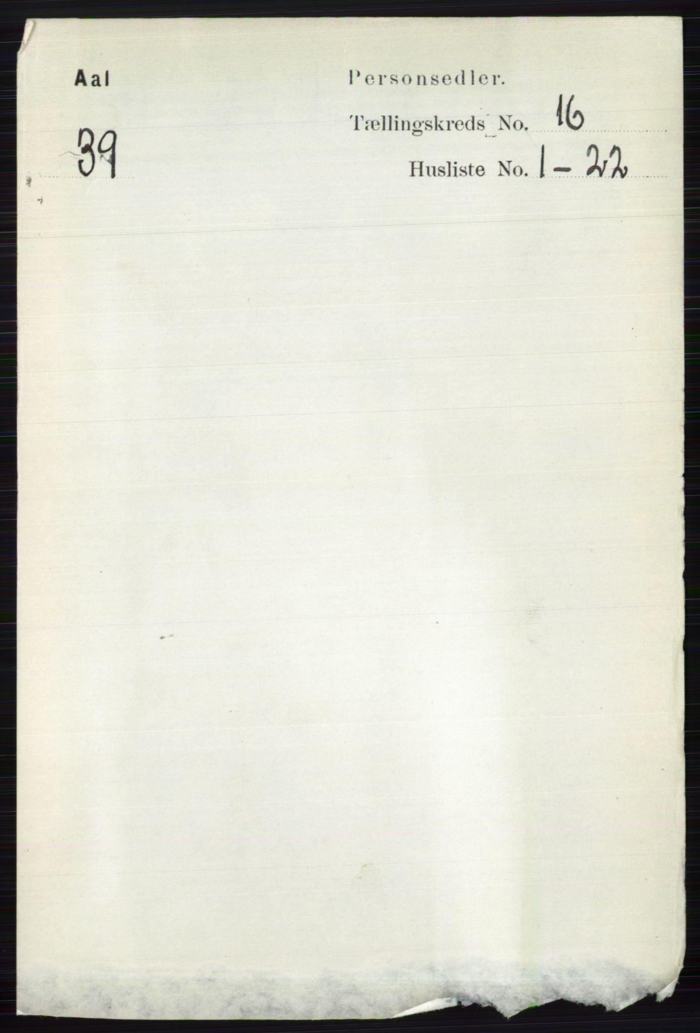 RA, Folketelling 1891 for 0619 Ål herred, 1891, s. 4042