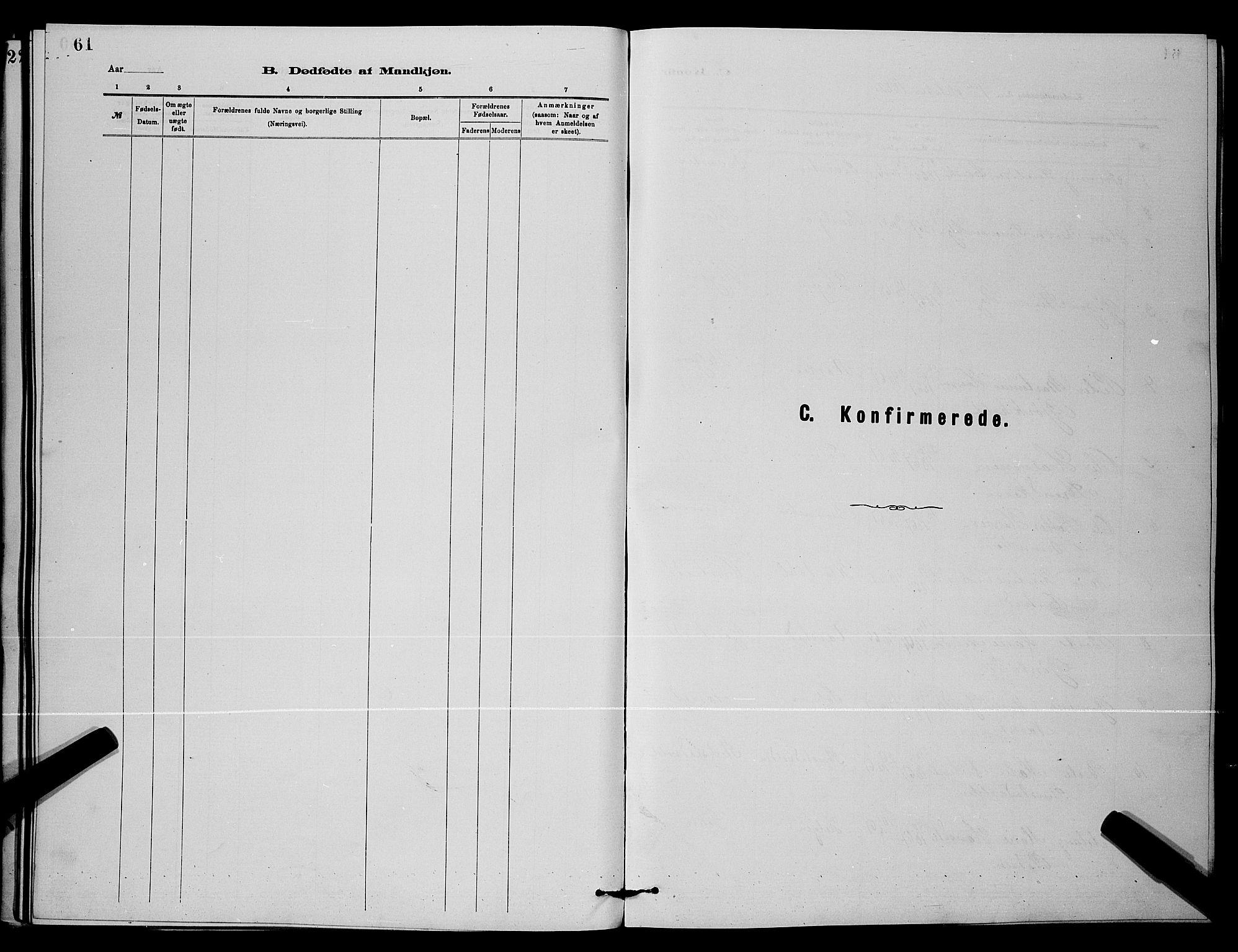 SAKO, Holla kirkebøker, G/Gb/L0001: Klokkerbok nr. II 1, 1882-1897, s. 61
