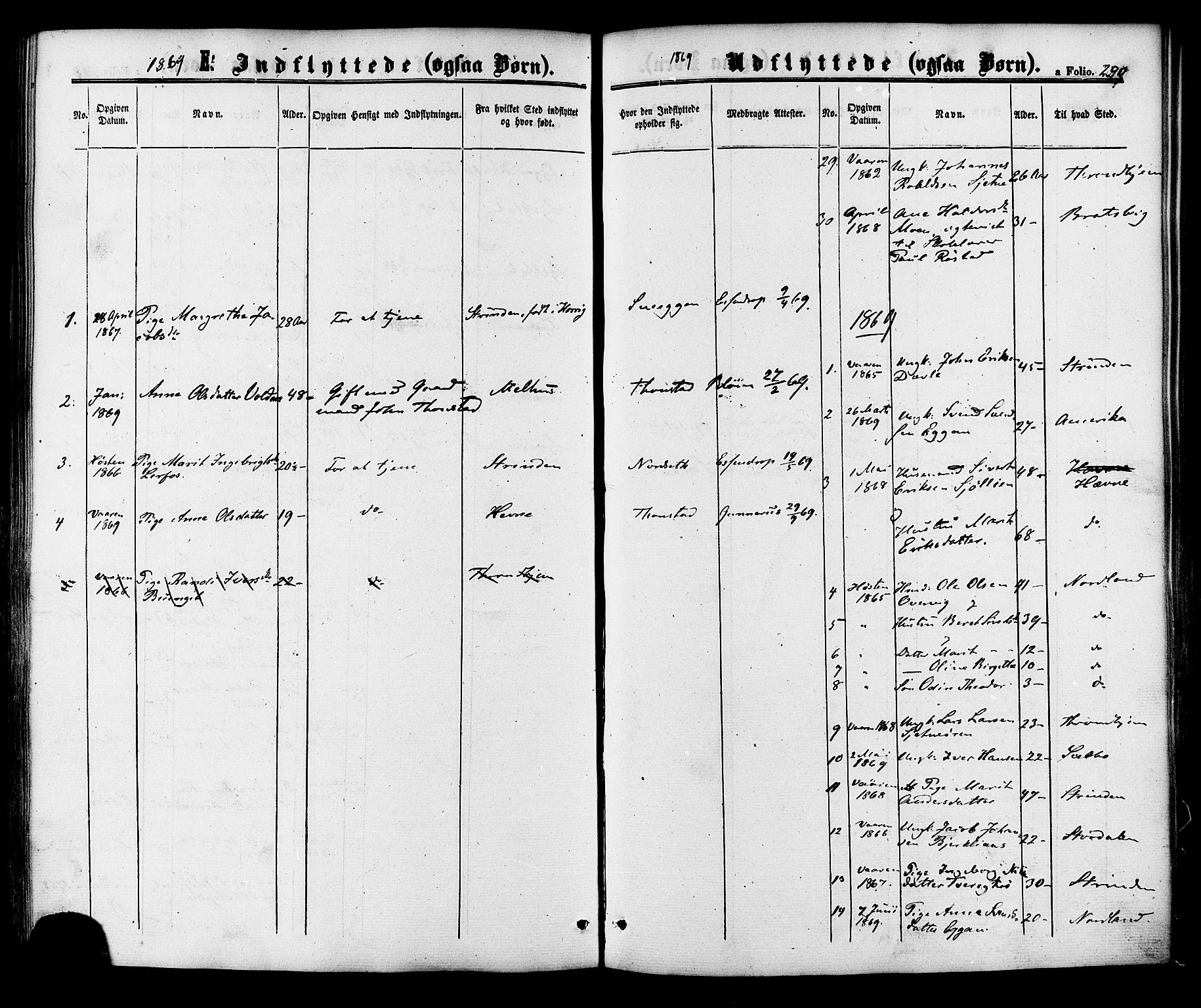 SAT, Ministerialprotokoller, klokkerbøker og fødselsregistre - Sør-Trøndelag, 618/L0442: Ministerialbok nr. 618A06 /1, 1863-1879, s. 290
