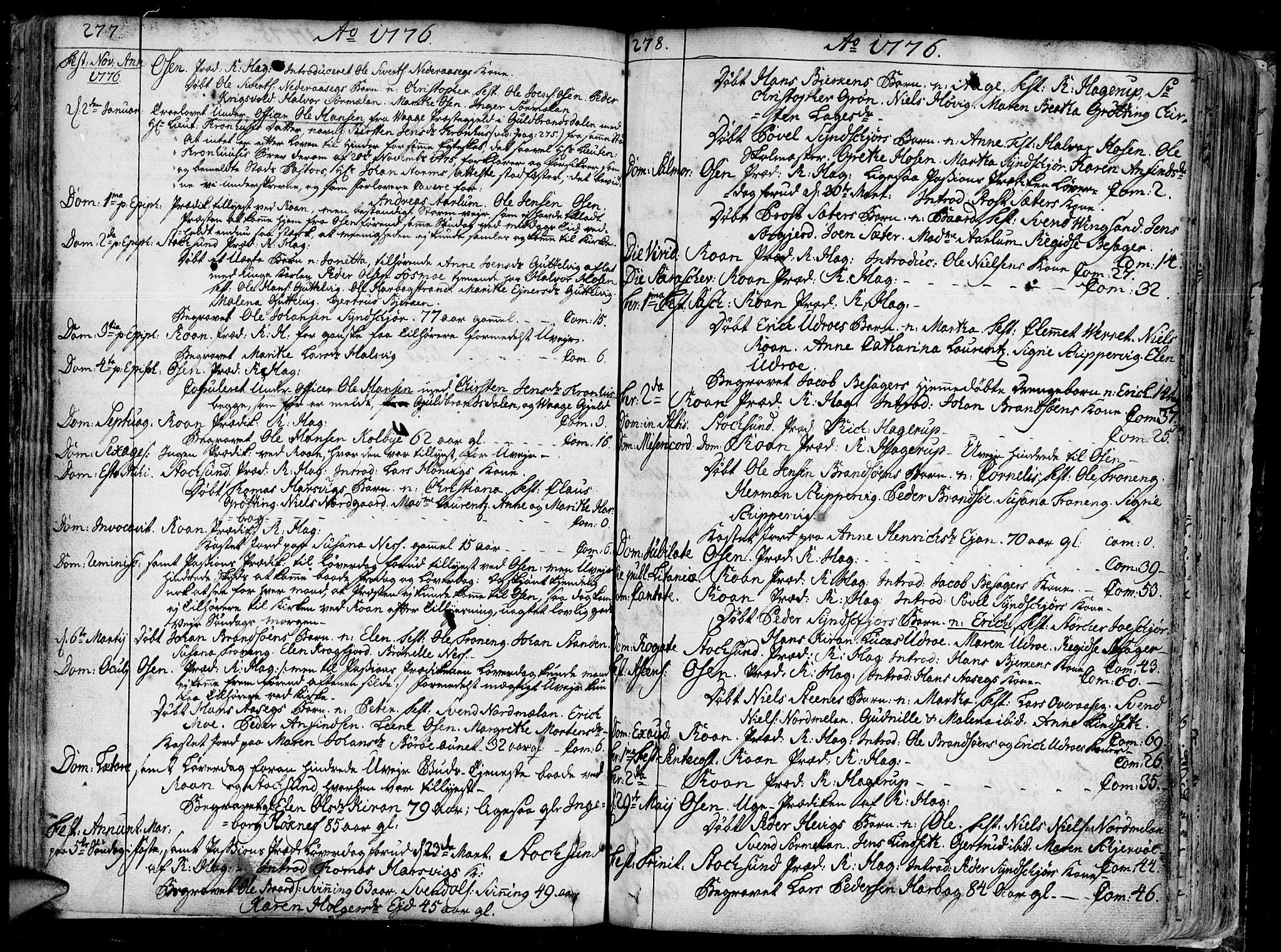 SAT, Ministerialprotokoller, klokkerbøker og fødselsregistre - Sør-Trøndelag, 657/L0700: Ministerialbok nr. 657A01, 1732-1801, s. 277-278