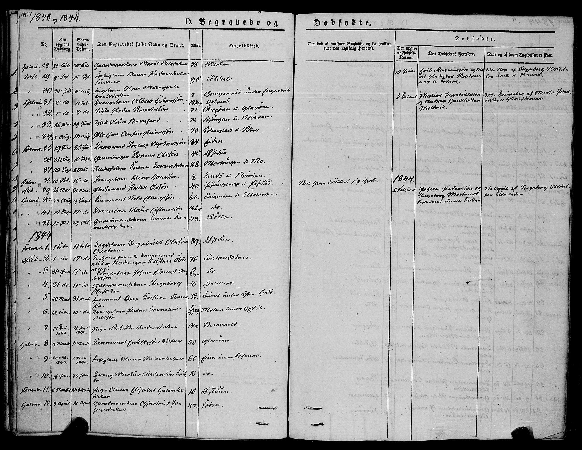 SAT, Ministerialprotokoller, klokkerbøker og fødselsregistre - Nord-Trøndelag, 773/L0614: Ministerialbok nr. 773A05, 1831-1856, s. 407