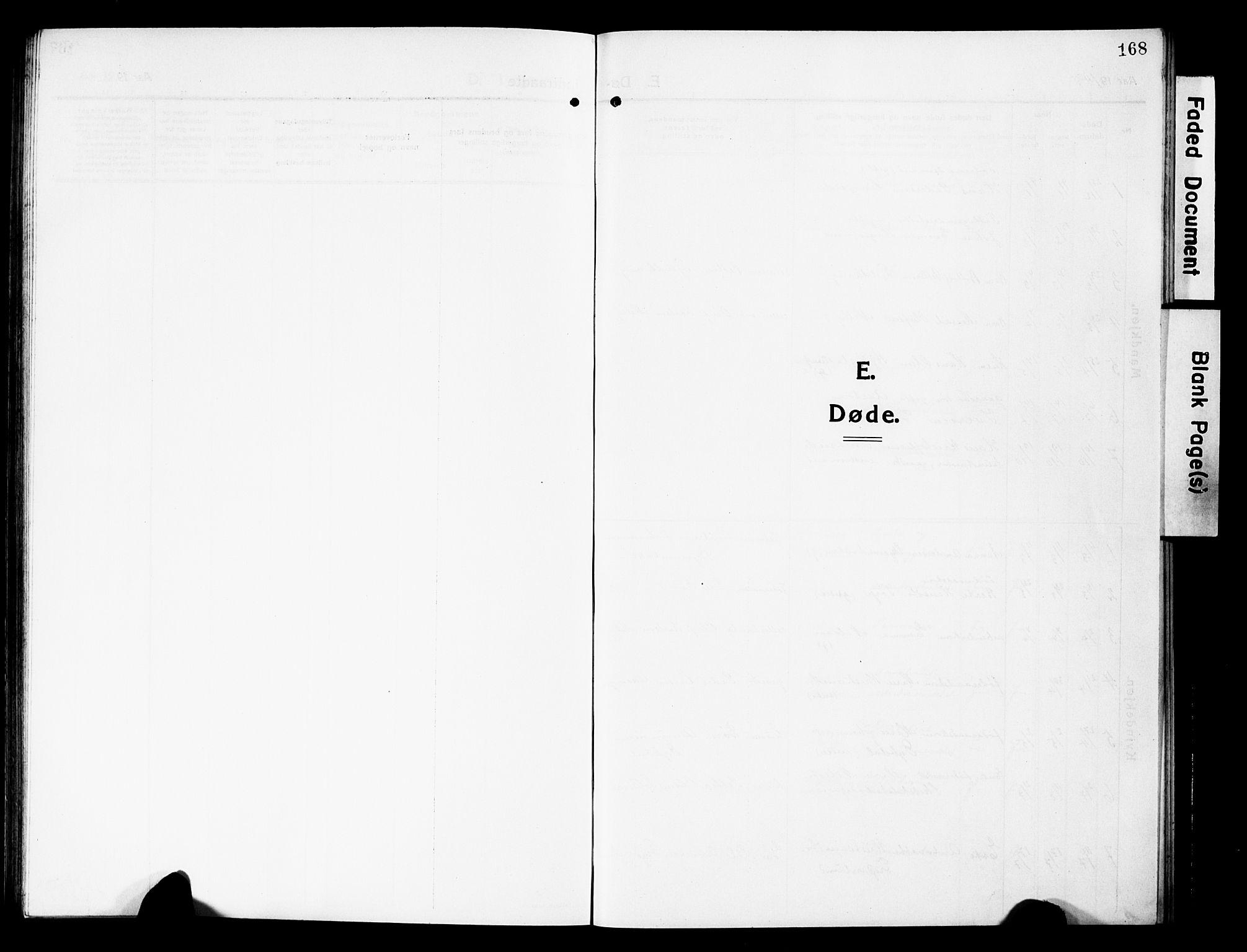 SAH, Vardal prestekontor, H/Ha/Hab/L0015: Klokkerbok nr. 15, 1914-1931, s. 168