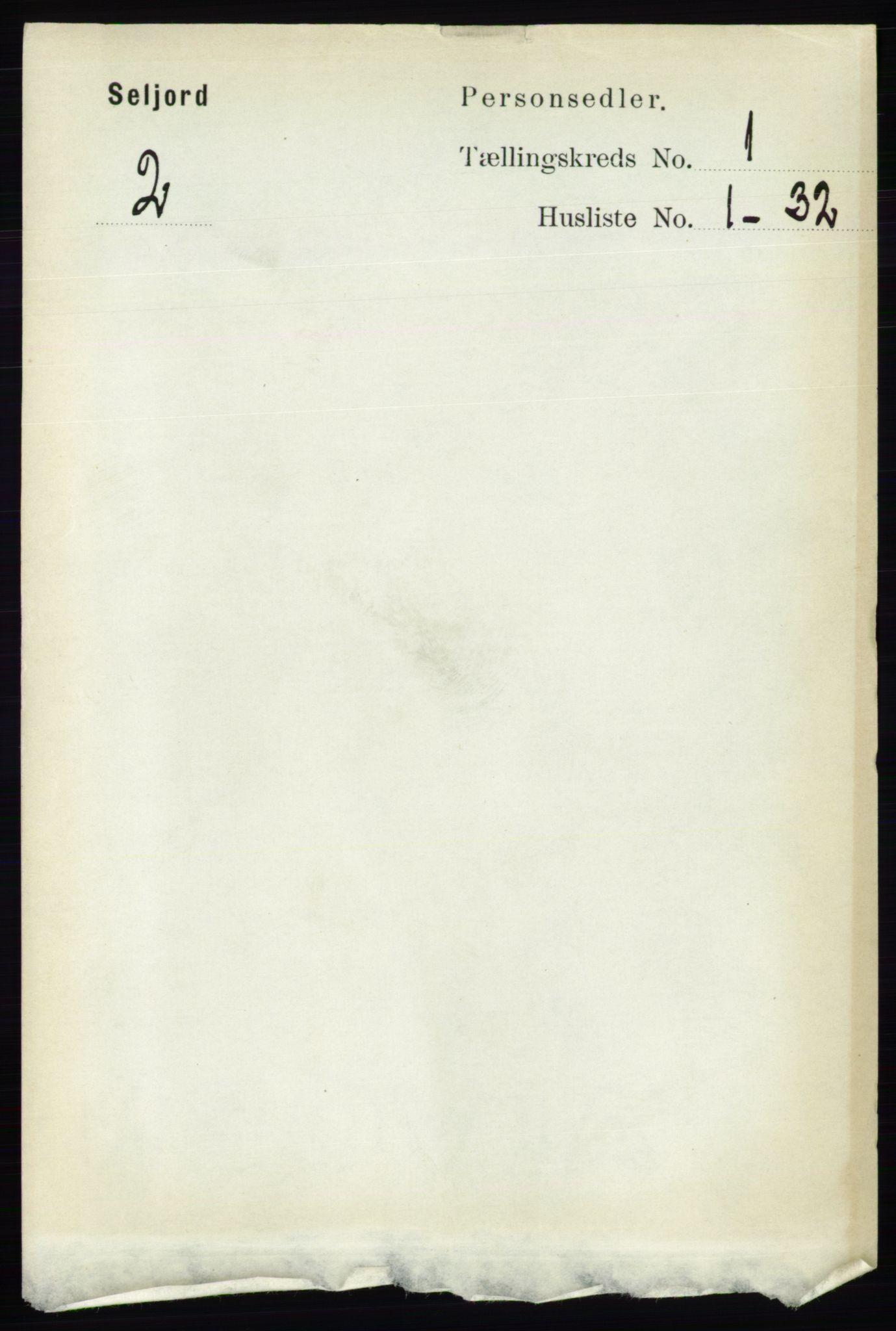 RA, Folketelling 1891 for 0828 Seljord herred, 1891, s. 106