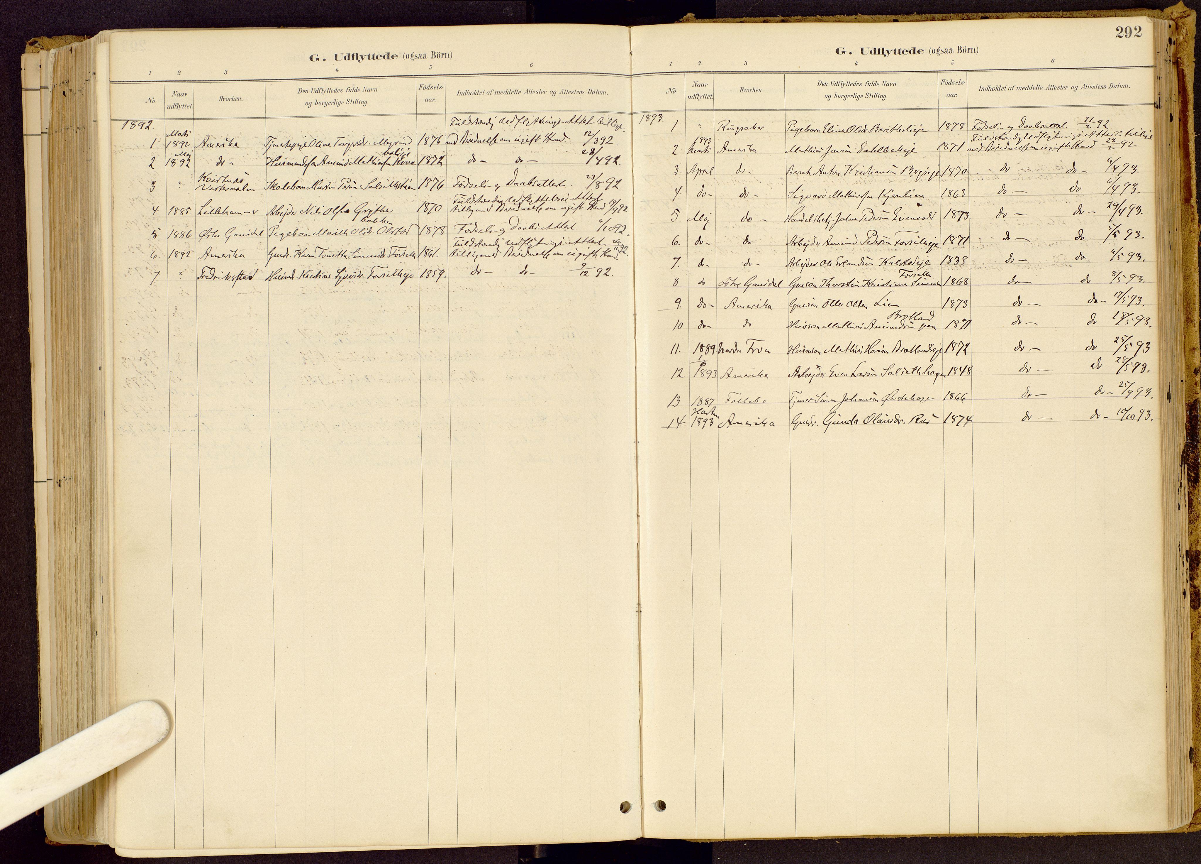 SAH, Vestre Gausdal prestekontor, Ministerialbok nr. 1, 1887-1914, s. 292