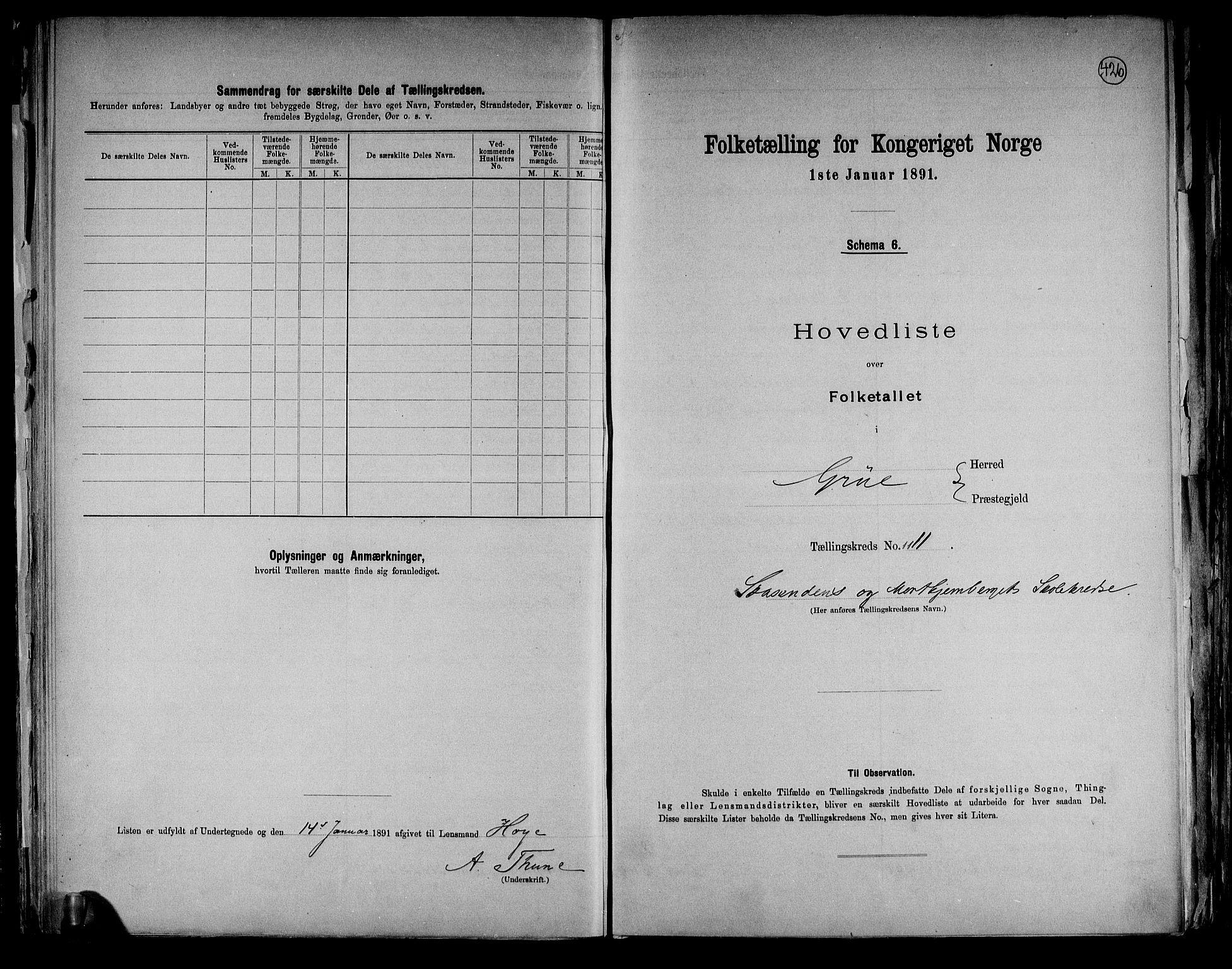 RA, Folketelling 1891 for 0423 Grue herred, 1891, s. 30