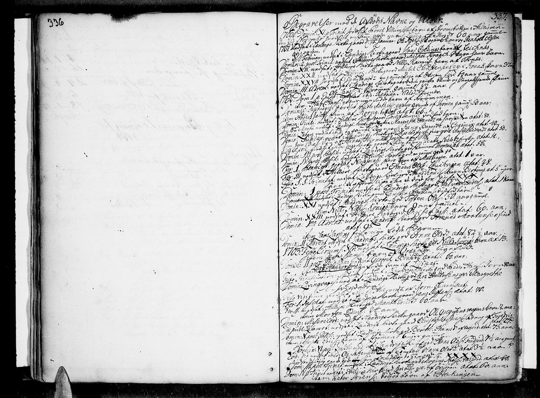 SATØ, Lenvik sokneprestembete, H/Ha: Ministerialbok nr. 1, 1753-1783, s. 336-337