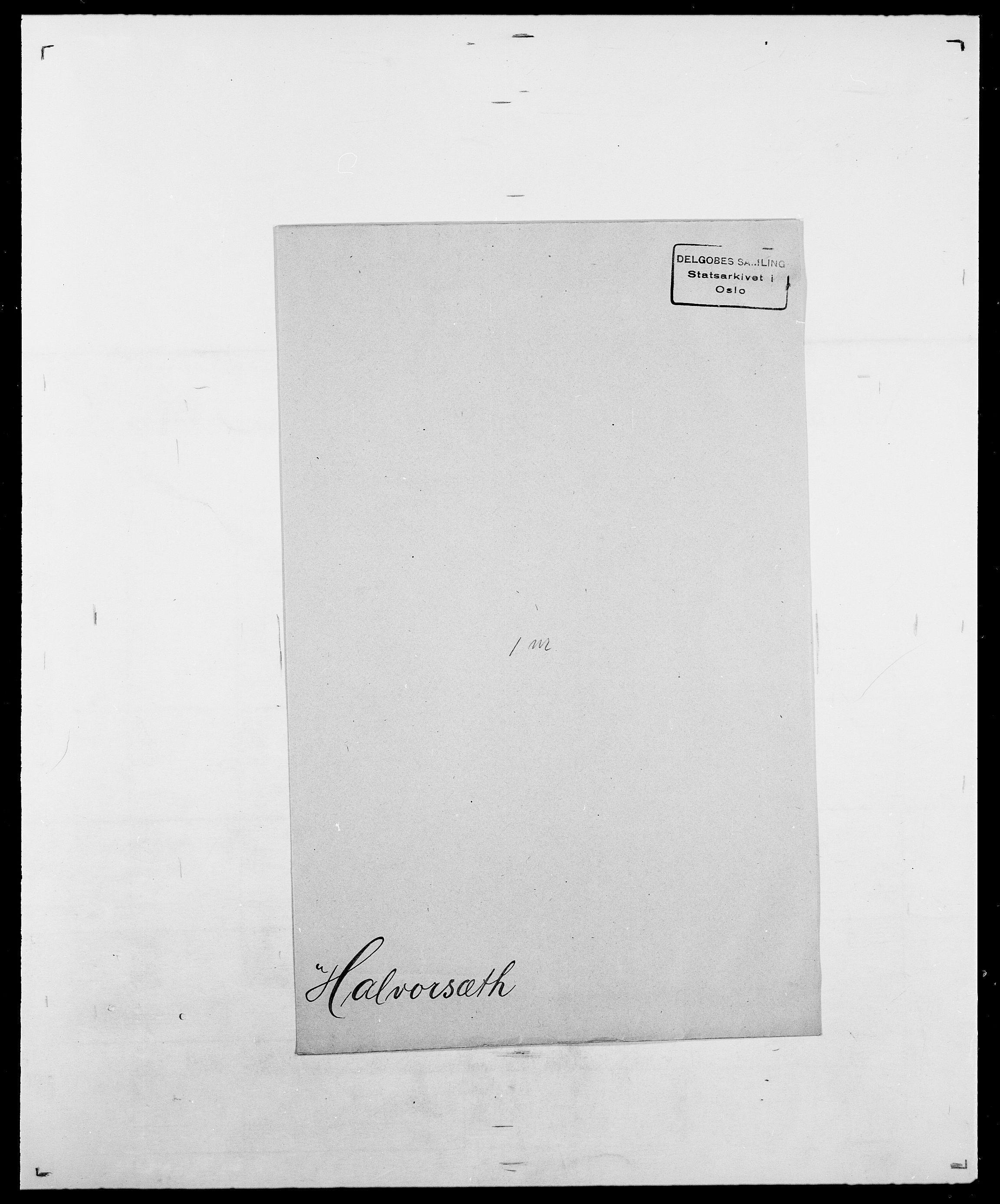 SAO, Delgobe, Charles Antoine - samling, D/Da/L0015: Grodtshilling - Halvorsæth, s. 842