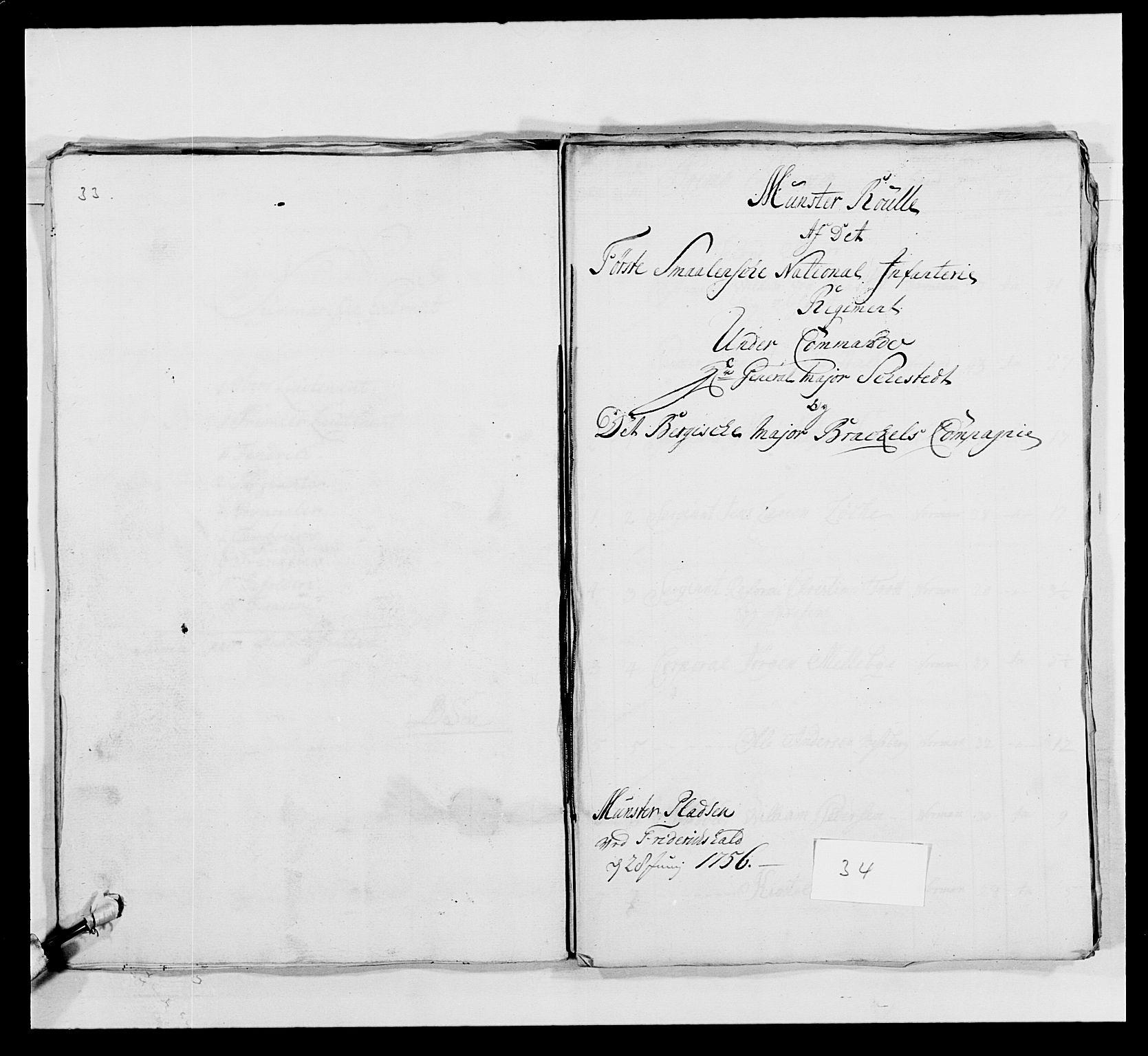 RA, Kommanderende general (KG I) med Det norske krigsdirektorium, E/Ea/L0495: 1. Smålenske regiment, 1732-1763, s. 496