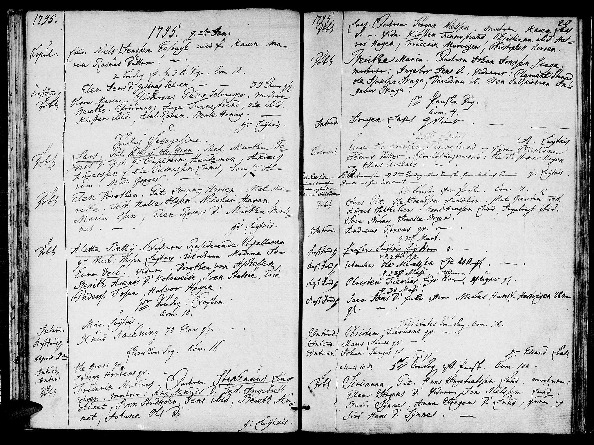 SAT, Ministerialprotokoller, klokkerbøker og fødselsregistre - Nord-Trøndelag, 780/L0633: Ministerialbok nr. 780A02 /1, 1787-1814, s. 20