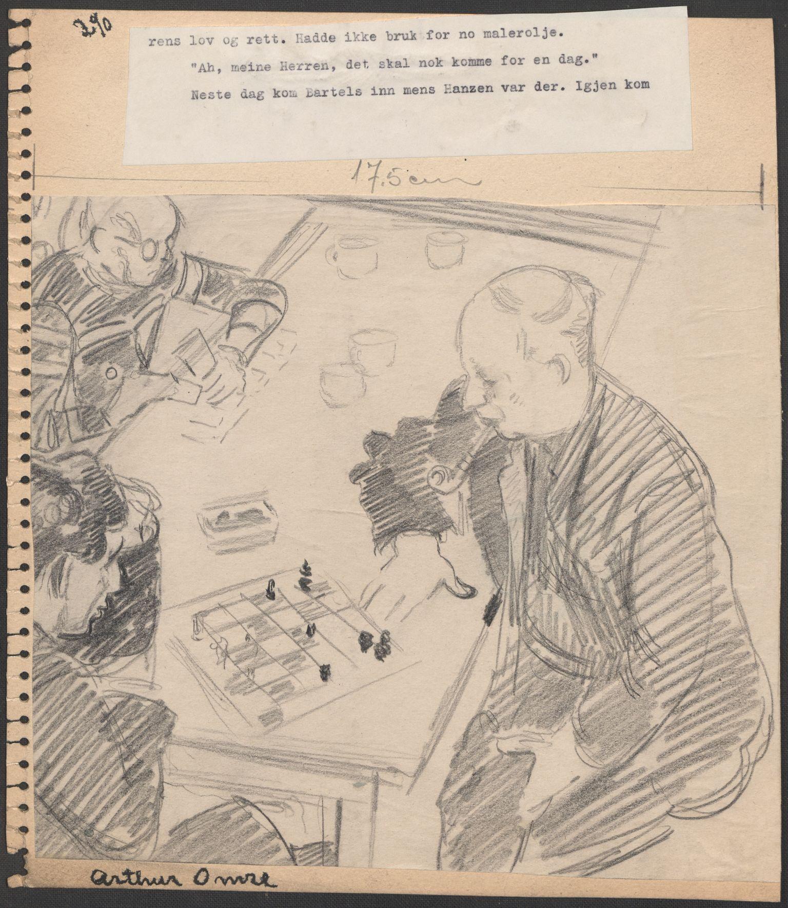 RA, Grøgaard, Joachim, F/L0002: Tegninger og tekster, 1942-1945, s. 133