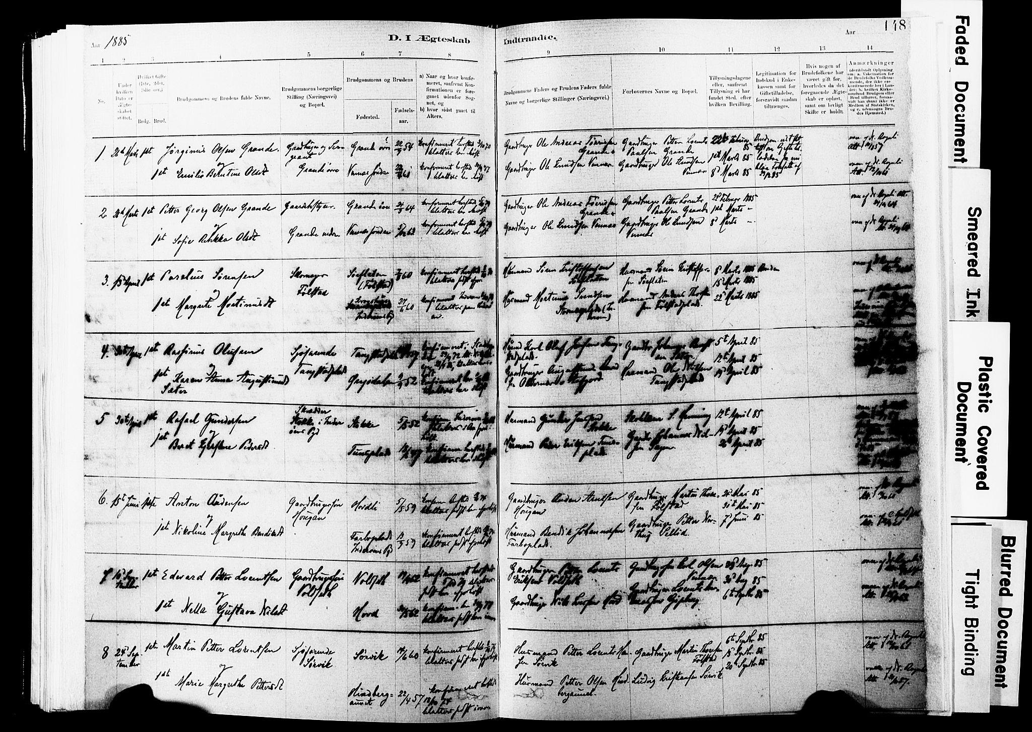 SAT, Ministerialprotokoller, klokkerbøker og fødselsregistre - Nord-Trøndelag, 744/L0420: Ministerialbok nr. 744A04, 1882-1904, s. 148