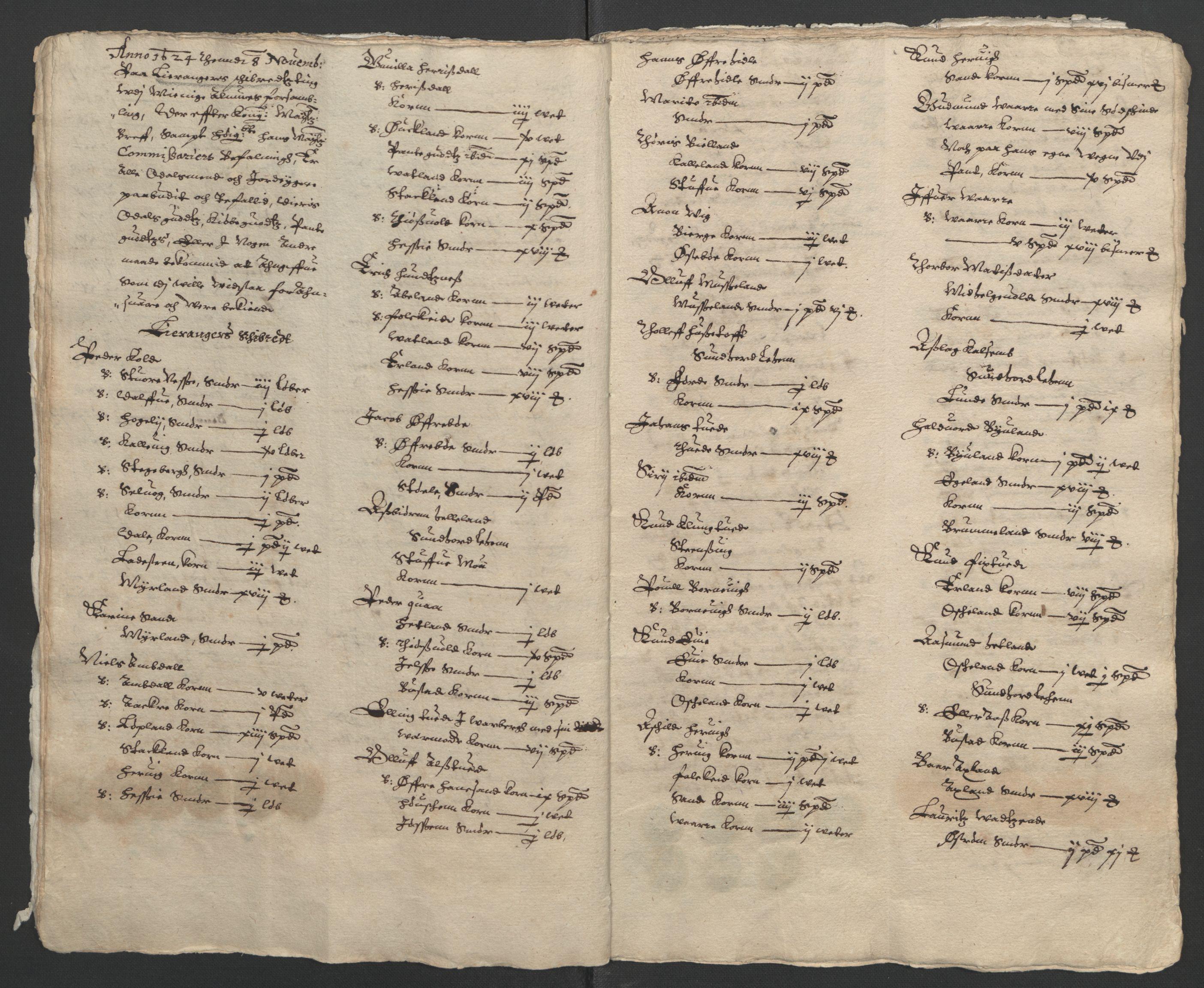 RA, Stattholderembetet 1572-1771, Ek/L0010: Jordebøker til utlikning av rosstjeneste 1624-1626:, 1624-1626, s. 13