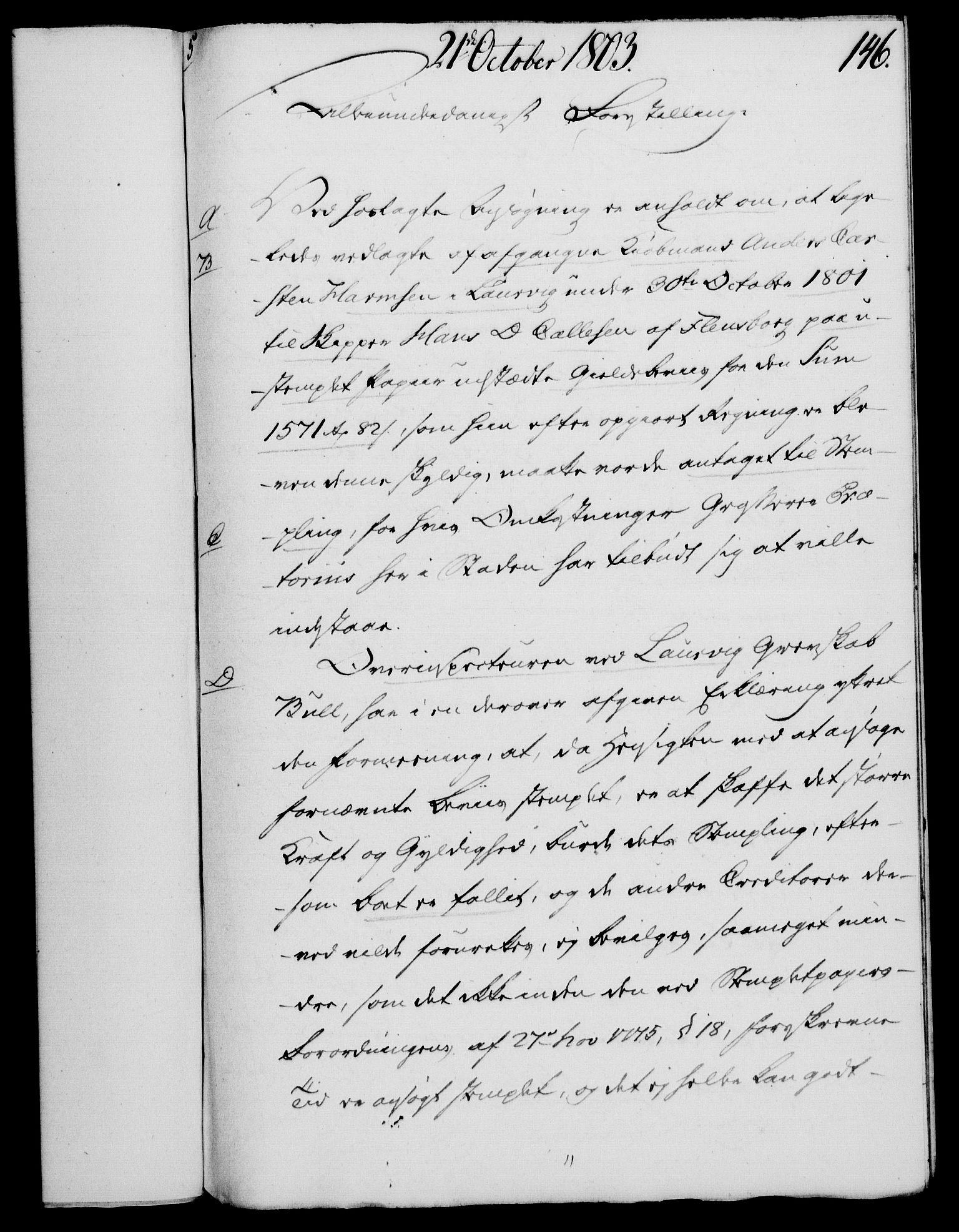RA, Rentekammeret, Kammerkanselliet, G/Gf/Gfa/L0085: Norsk relasjons- og resolusjonsprotokoll (merket RK 52.85), 1803, s. 843