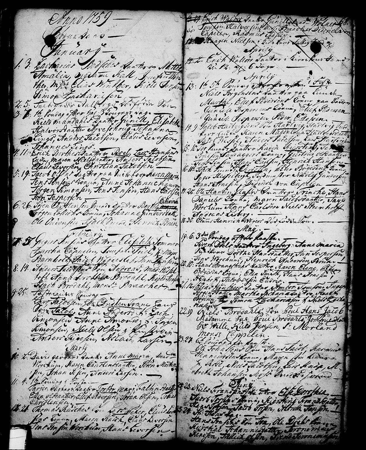SAKO, Skien kirkebøker, G/Ga/L0001: Klokkerbok nr. 1, 1756-1791, s. 68
