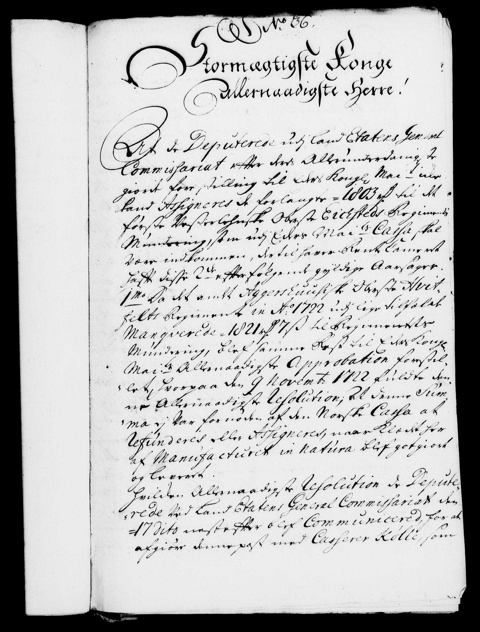 RA, Rentekammeret, Kammerkanselliet, G/Gf/Gfa/L0007: Norsk relasjons- og resolusjonsprotokoll (merket RK 52.7), 1724, s. 249