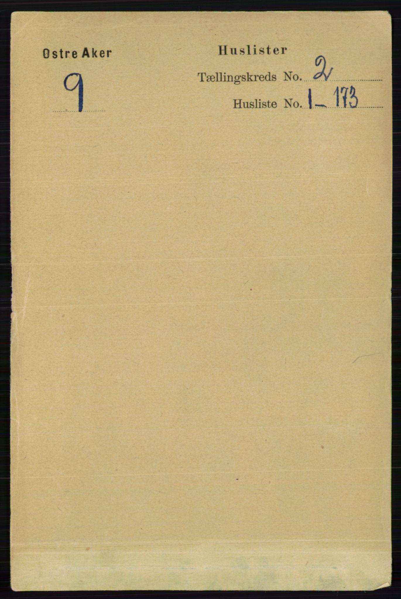 RA, Folketelling 1891 for 0218 Aker herred, 1891, s. 1178