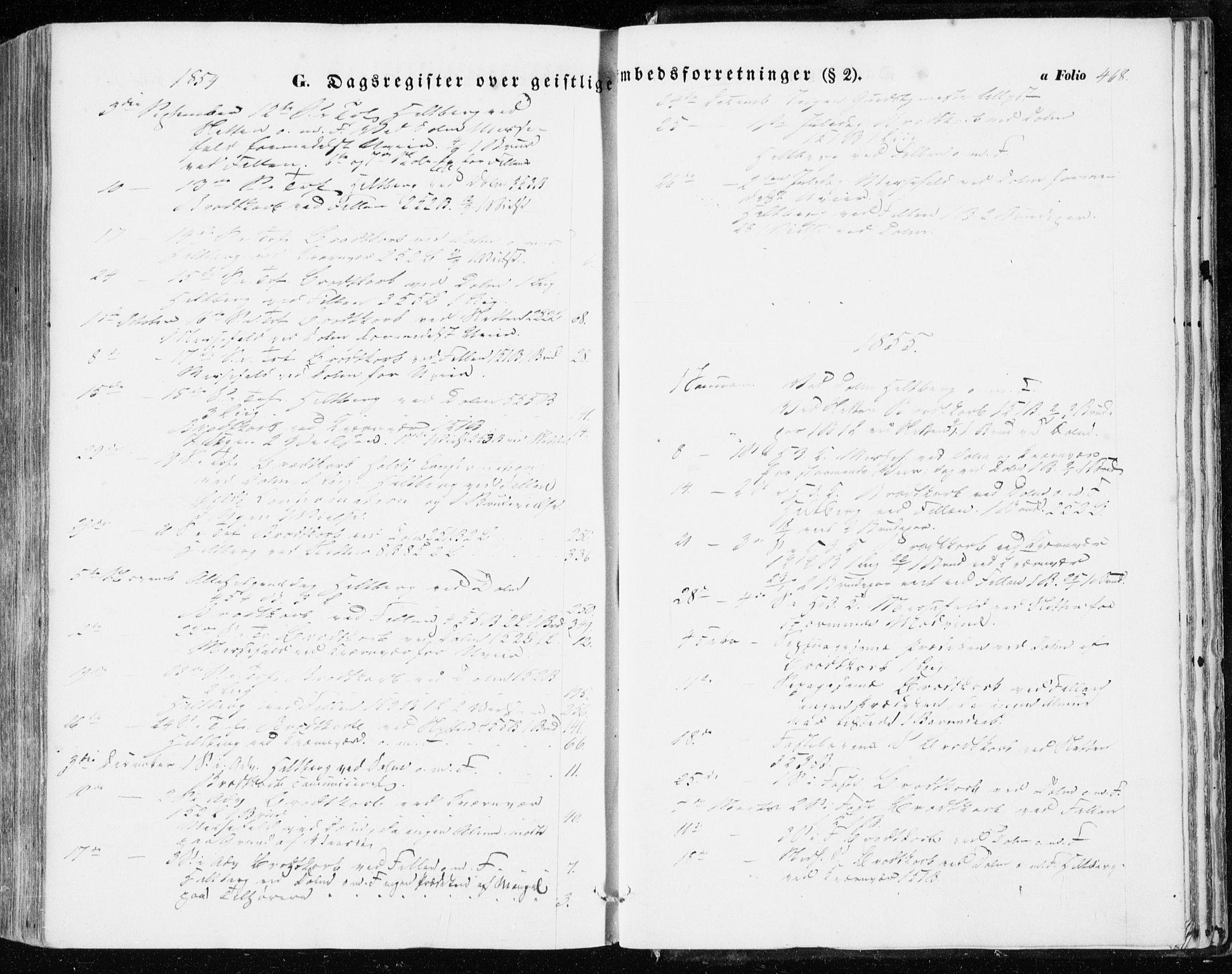 SAT, Ministerialprotokoller, klokkerbøker og fødselsregistre - Sør-Trøndelag, 634/L0530: Ministerialbok nr. 634A06, 1852-1860, s. 468