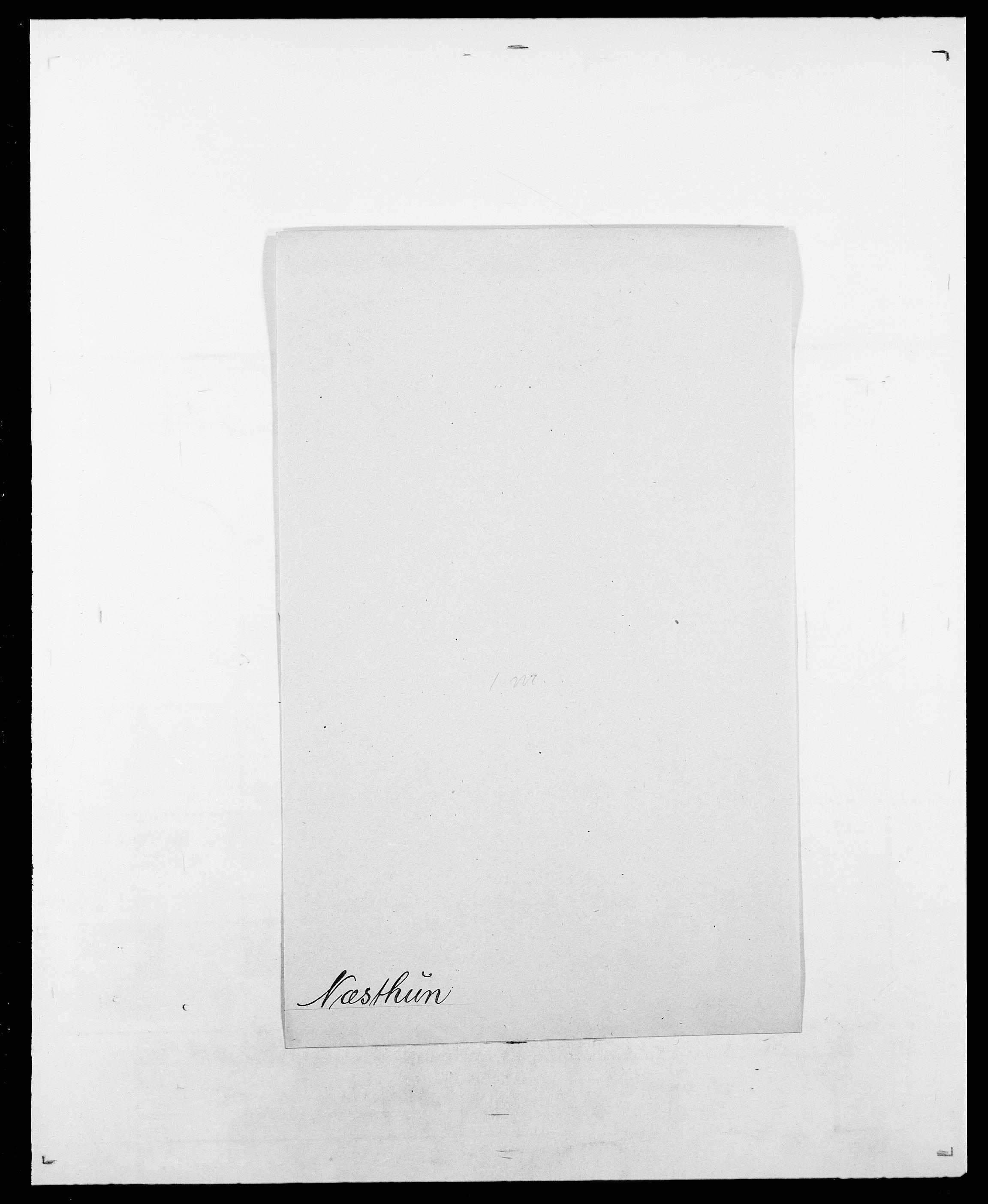 SAO, Delgobe, Charles Antoine - samling, D/Da/L0028: Naaden - Nøvik, s. 619