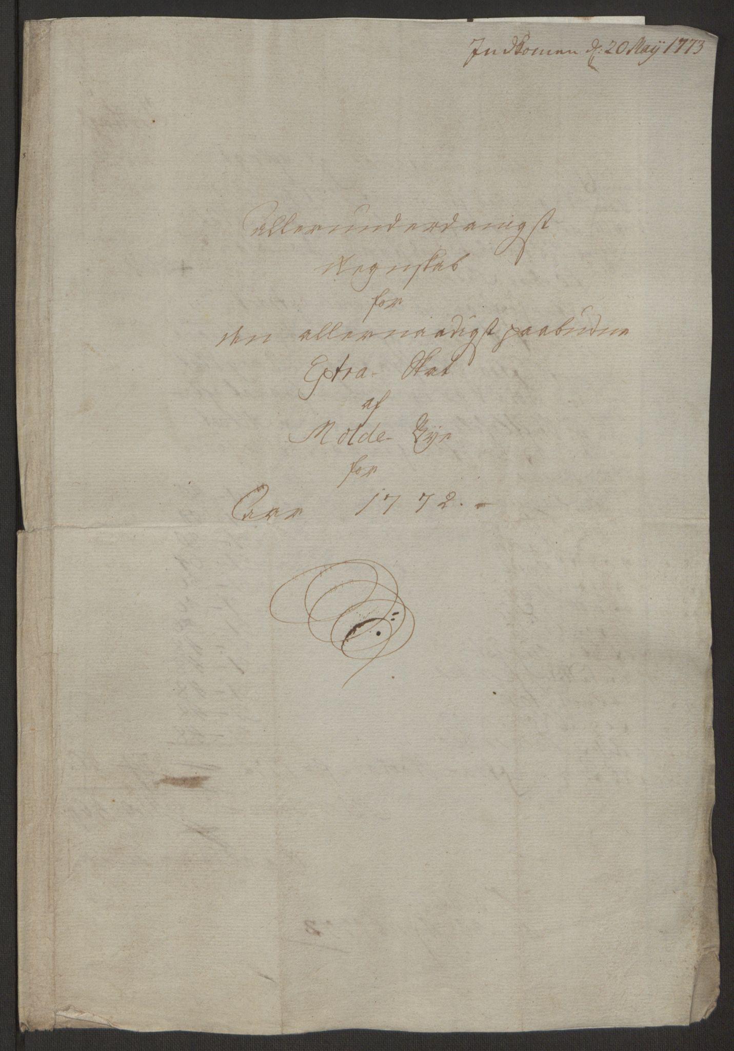 RA, Rentekammeret inntil 1814, Reviderte regnskaper, Byregnskaper, R/Rq/L0487: [Q1] Kontribusjonsregnskap, 1762-1772, s. 211