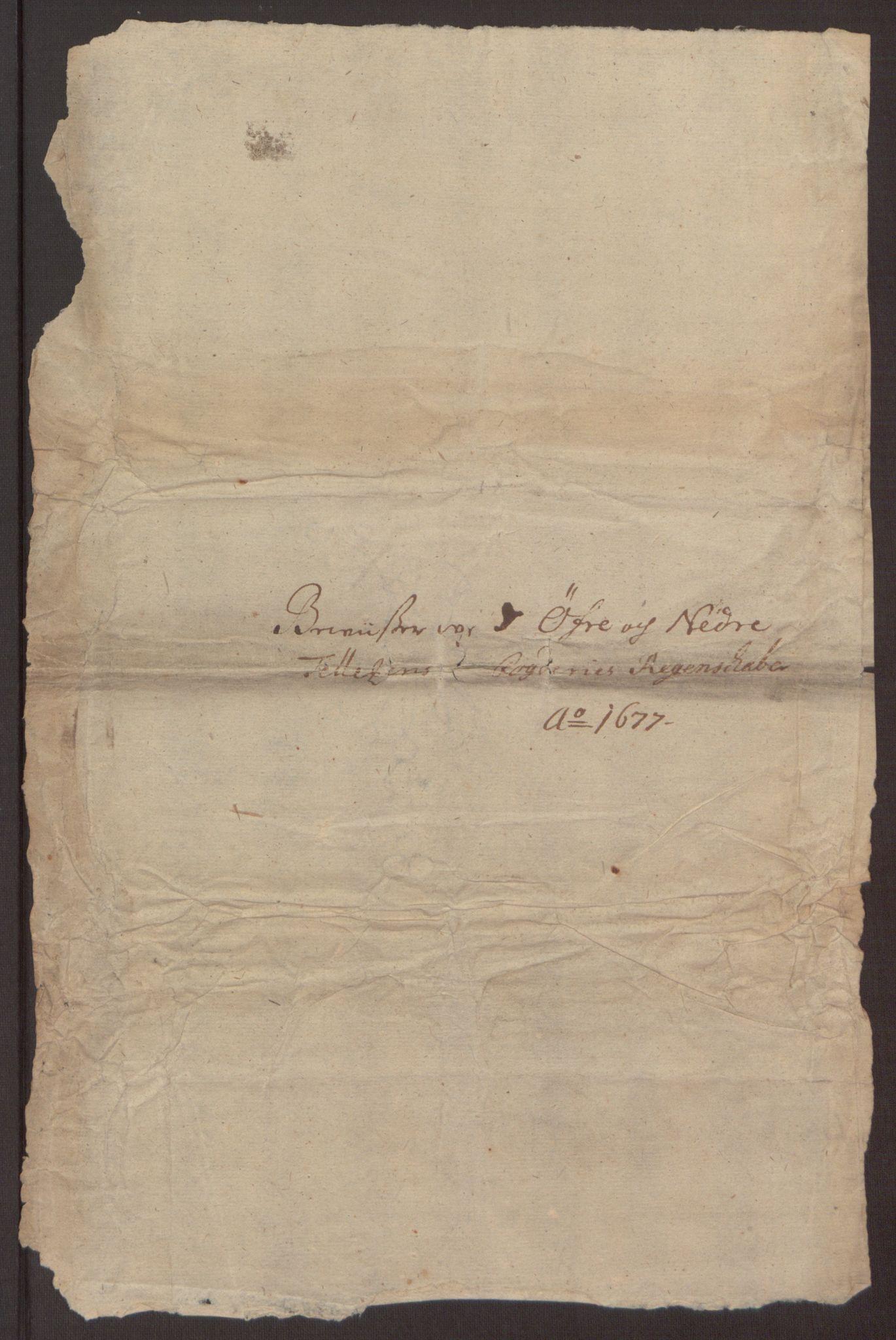 RA, Rentekammeret inntil 1814, Reviderte regnskaper, Fogderegnskap, R35/L2067: Fogderegnskap Øvre og Nedre Telemark, 1677, s. 349