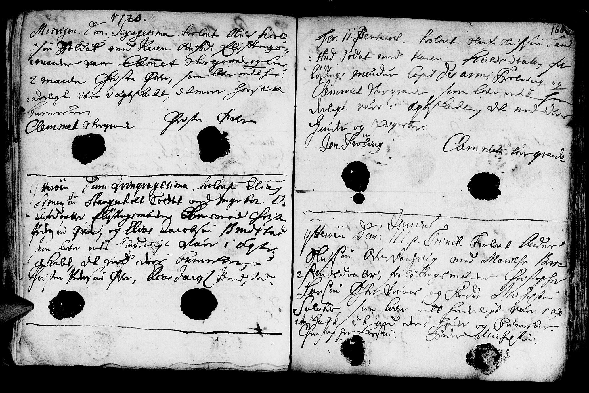 SAT, Ministerialprotokoller, klokkerbøker og fødselsregistre - Nord-Trøndelag, 722/L0215: Ministerialbok nr. 722A02, 1718-1755, s. 166
