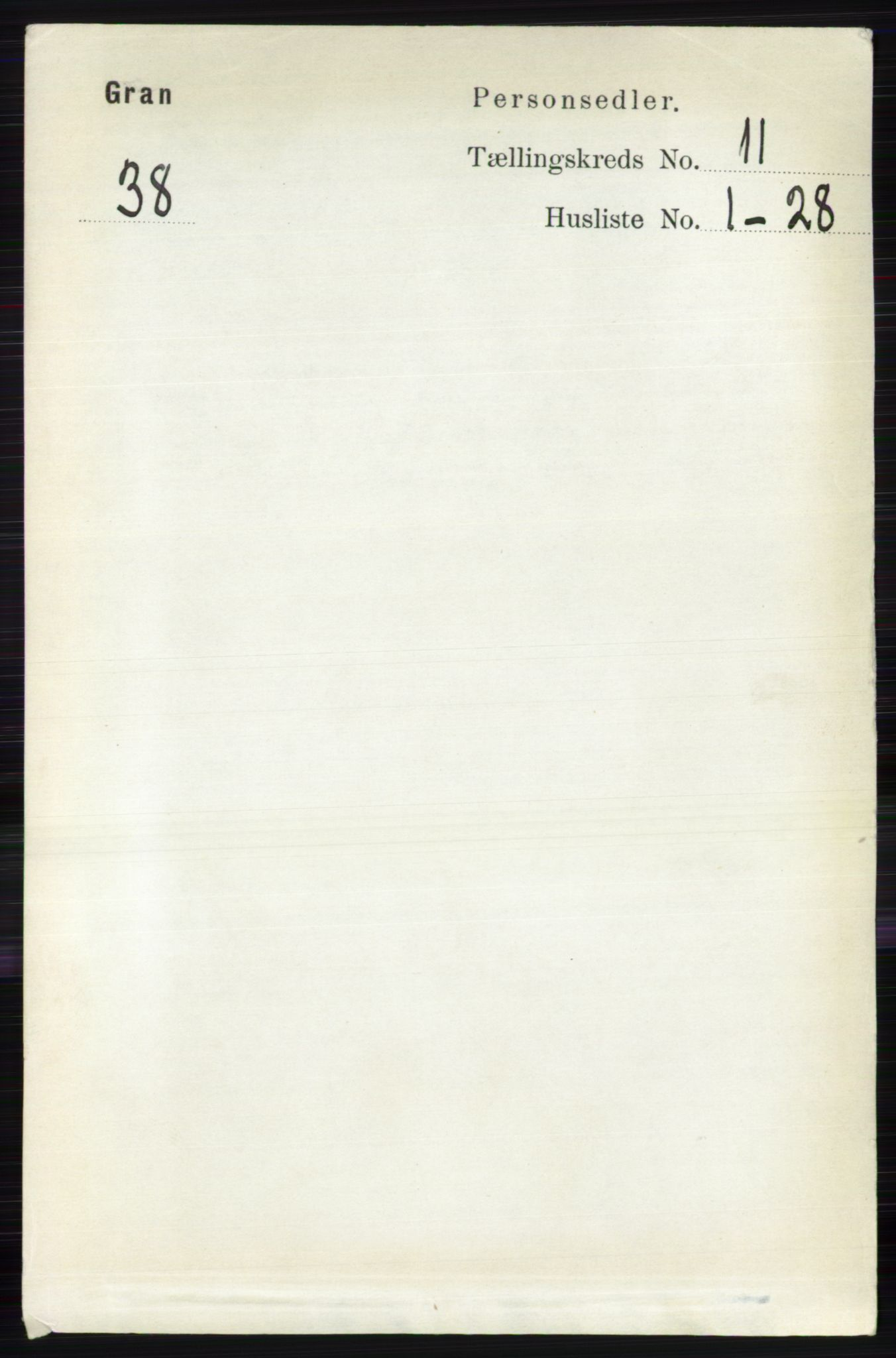 RA, Folketelling 1891 for 0534 Gran herred, 1891, s. 5466