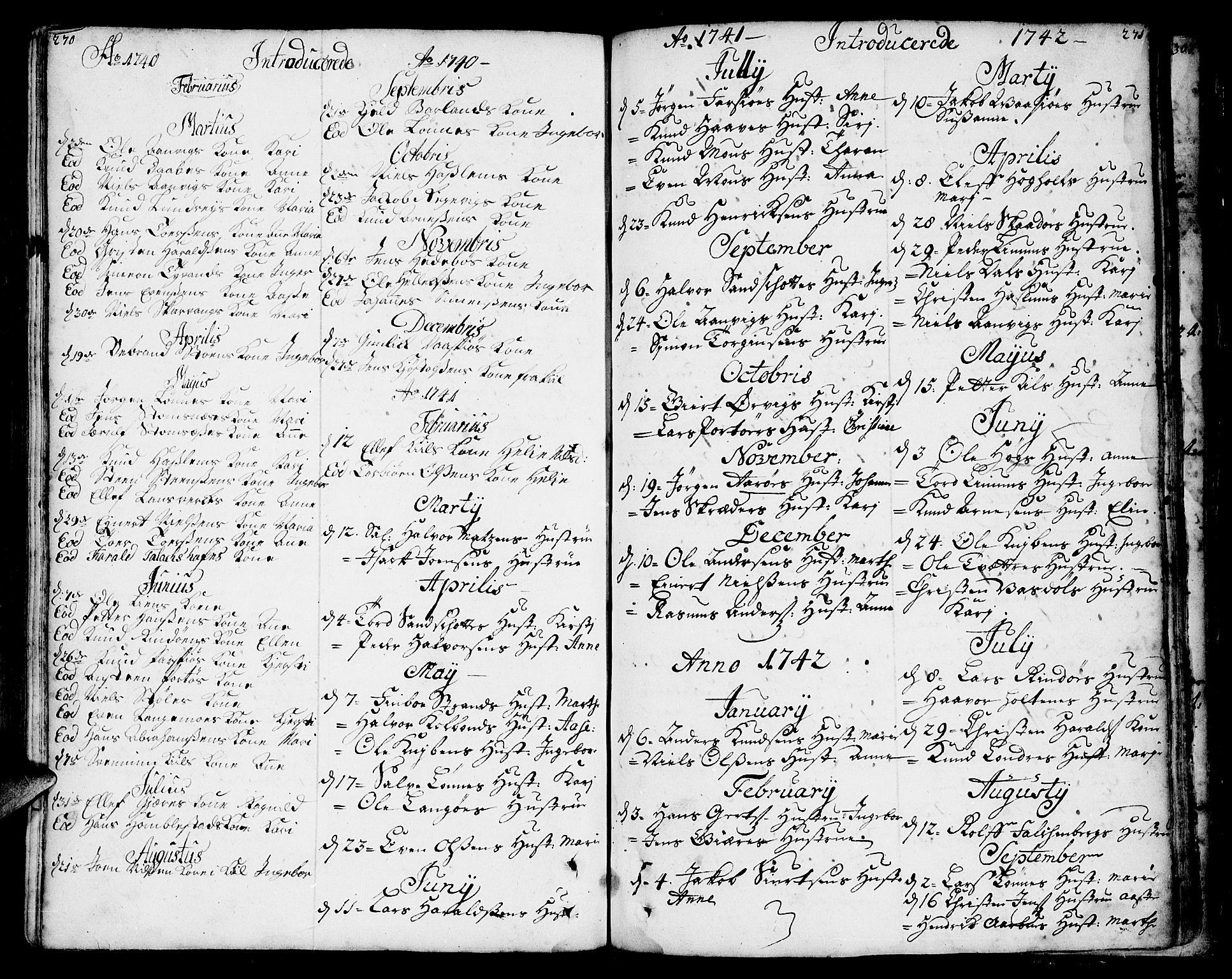 SAKO, Sannidal kirkebøker, F/Fa/L0001: Ministerialbok nr. 1, 1702-1766, s. 270-271