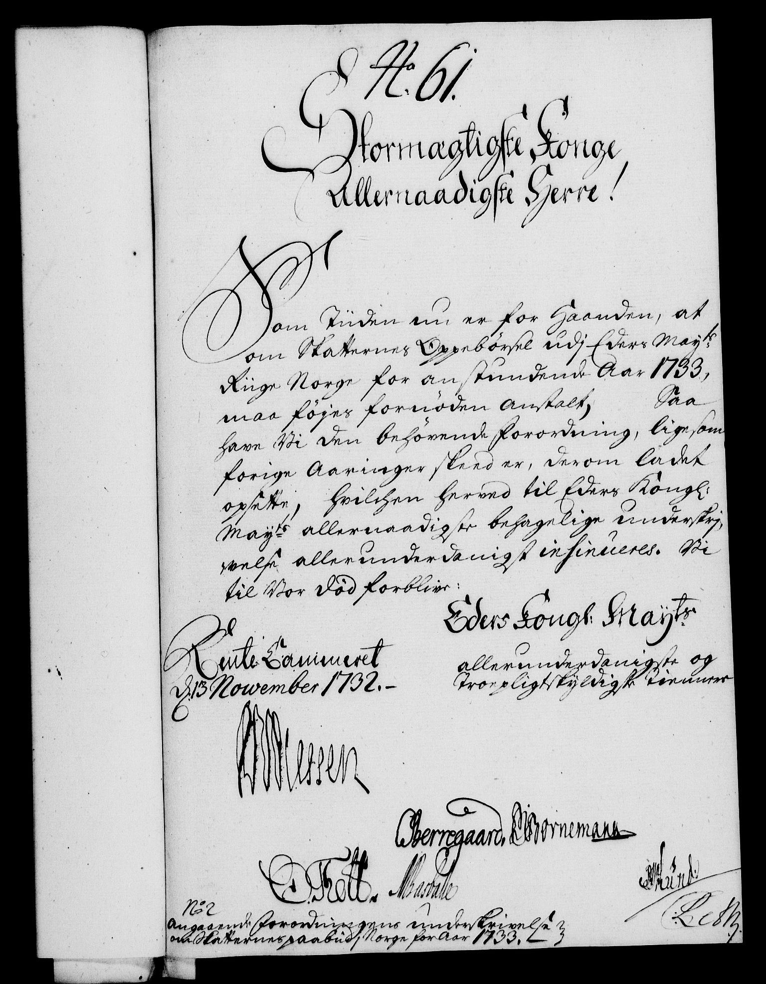 RA, Rentekammeret, Kammerkanselliet, G/Gf/Gfa/L0015: Norsk relasjons- og resolusjonsprotokoll (merket RK 52.15), 1732, s. 376