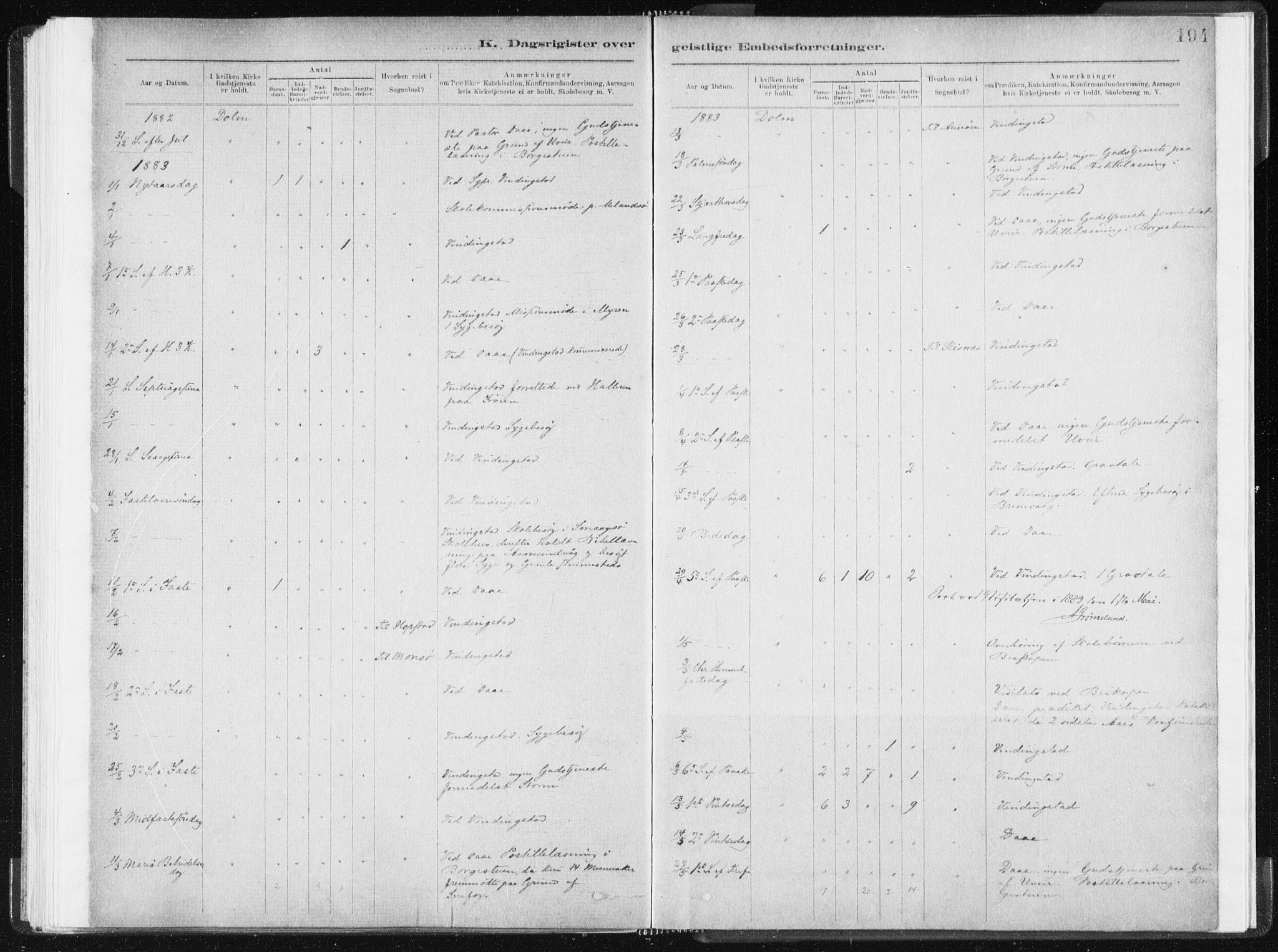SAT, Ministerialprotokoller, klokkerbøker og fødselsregistre - Sør-Trøndelag, 634/L0533: Ministerialbok nr. 634A09, 1882-1901, s. 194