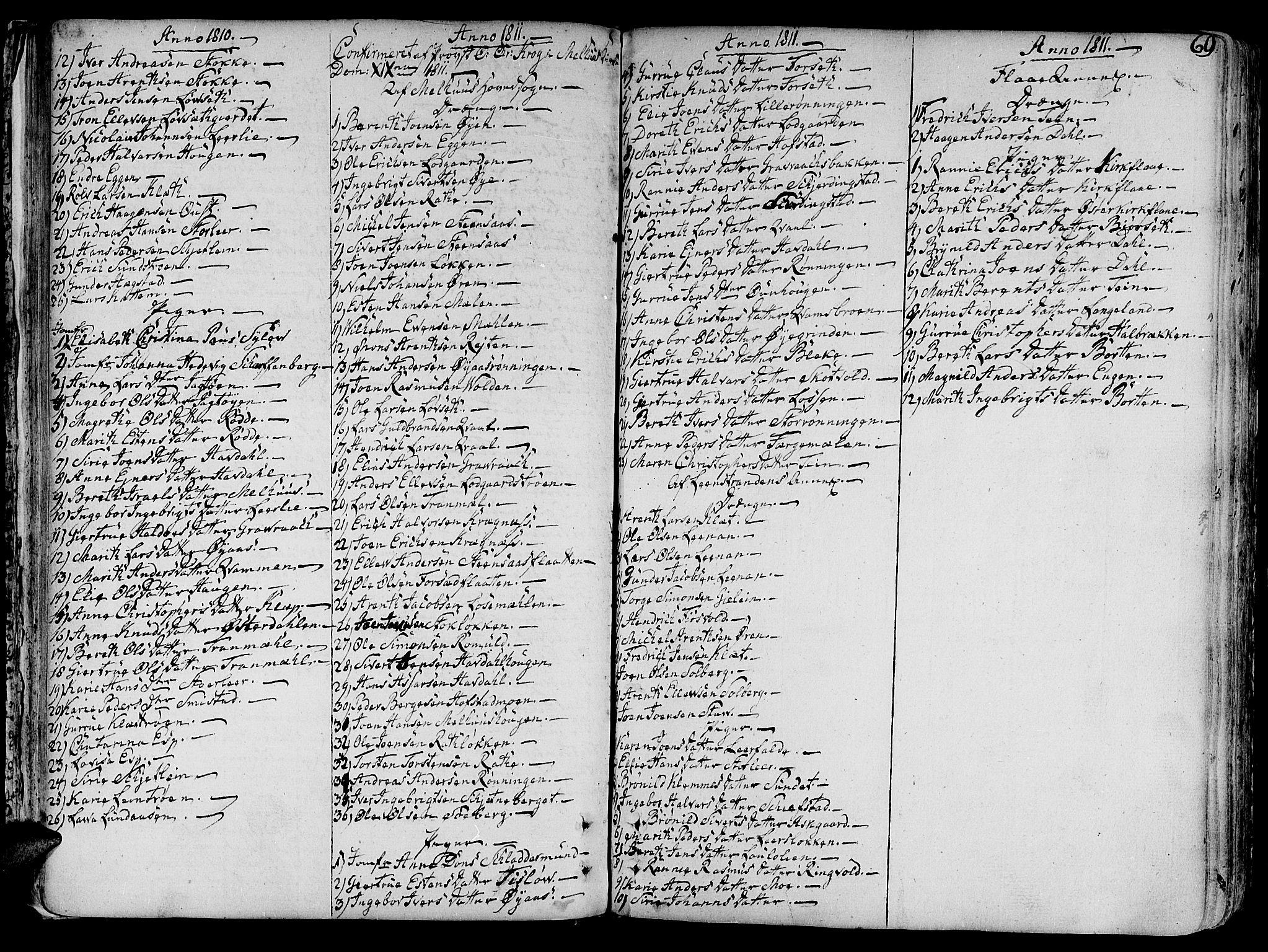 SAT, Ministerialprotokoller, klokkerbøker og fødselsregistre - Sør-Trøndelag, 691/L1061: Ministerialbok nr. 691A02 /1, 1768-1815, s. 69
