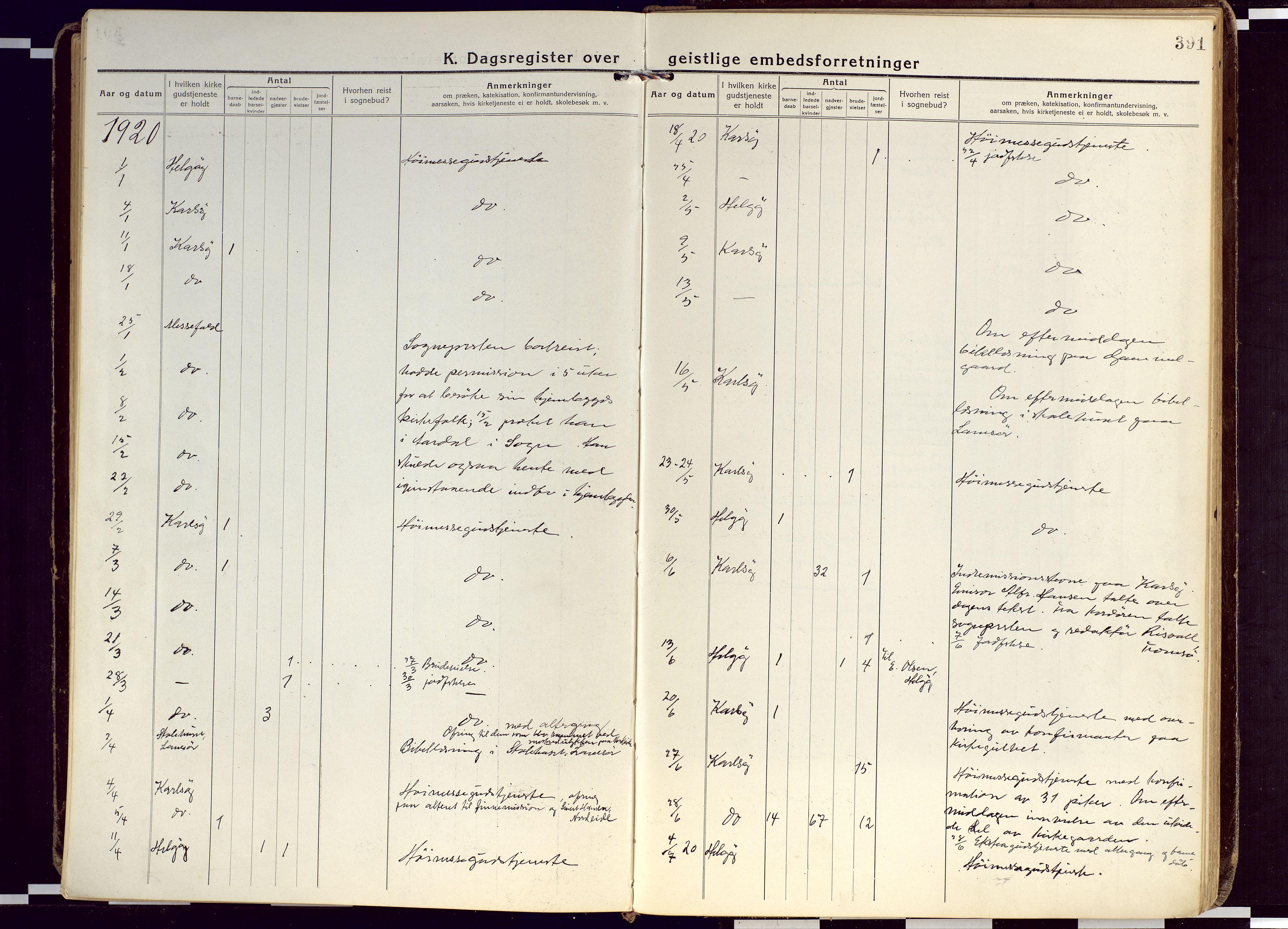SATØ, Karlsøy sokneprestembete, Ministerialbok nr. 15, 1918-1929, s. 391
