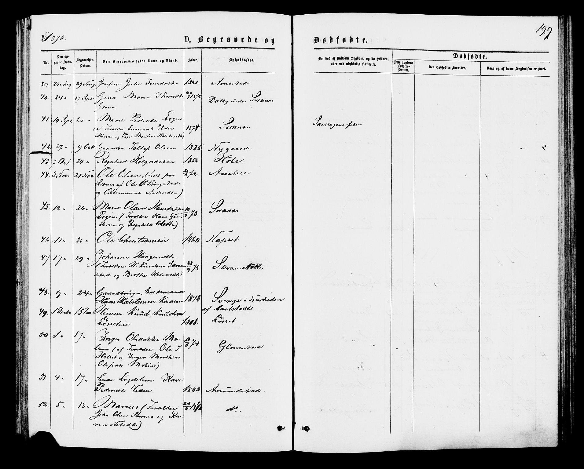 SAH, Åmot prestekontor, Ministerialbok nr. 9, 1875-1883, s. 199
