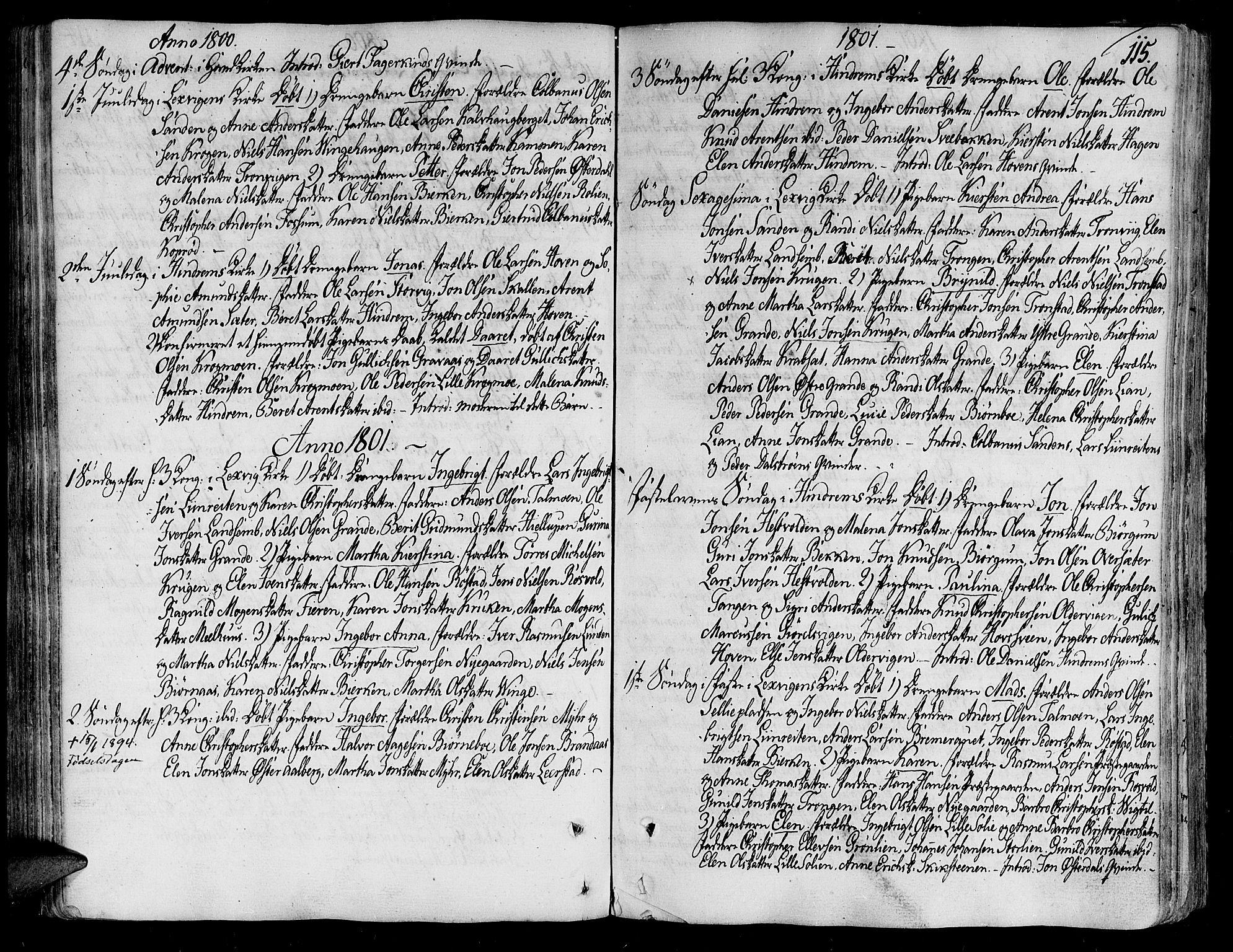 SAT, Ministerialprotokoller, klokkerbøker og fødselsregistre - Nord-Trøndelag, 701/L0004: Ministerialbok nr. 701A04, 1783-1816, s. 115