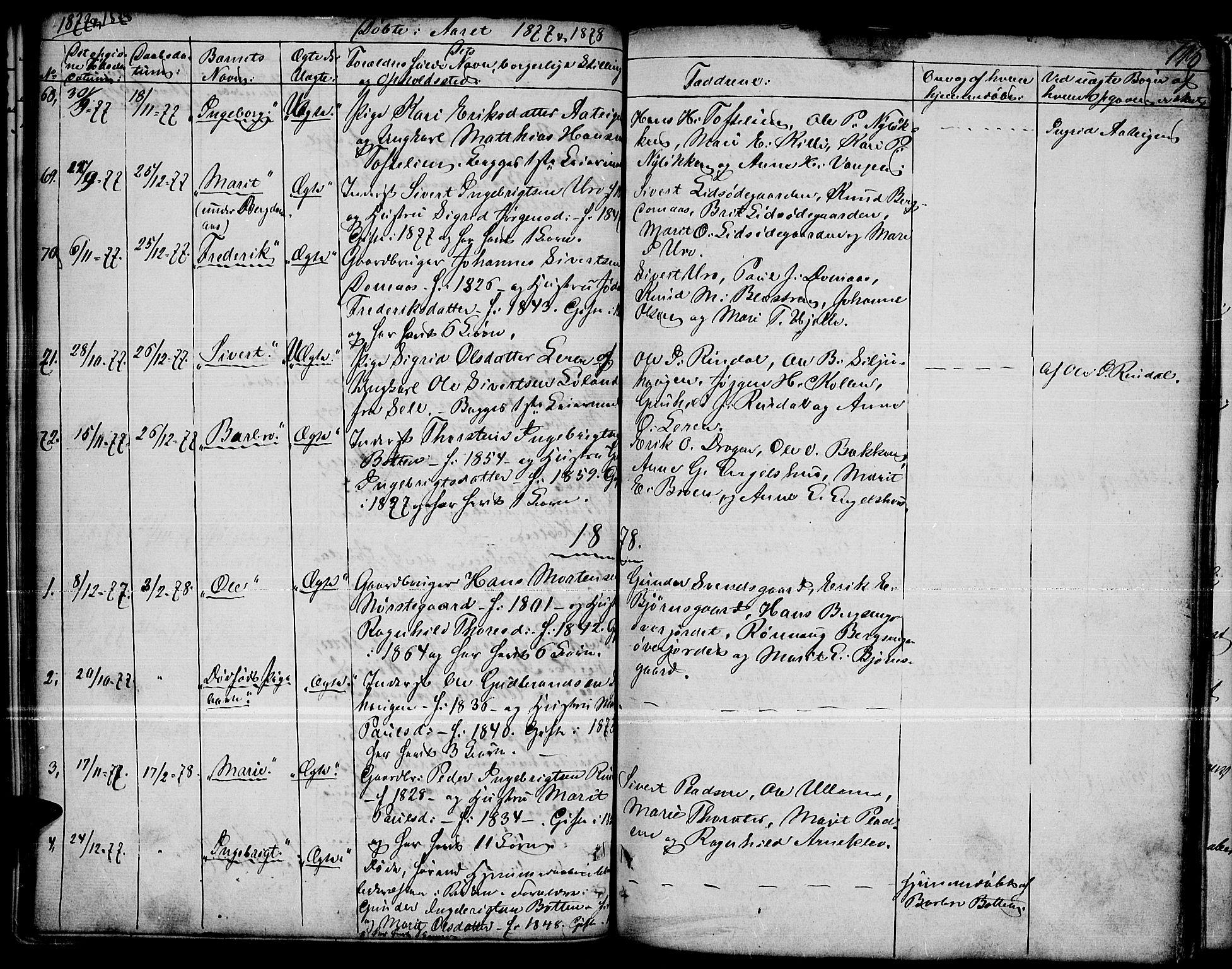 SAH, Dovre prestekontor, Klokkerbok nr. 1, 1862-1880, s. 110