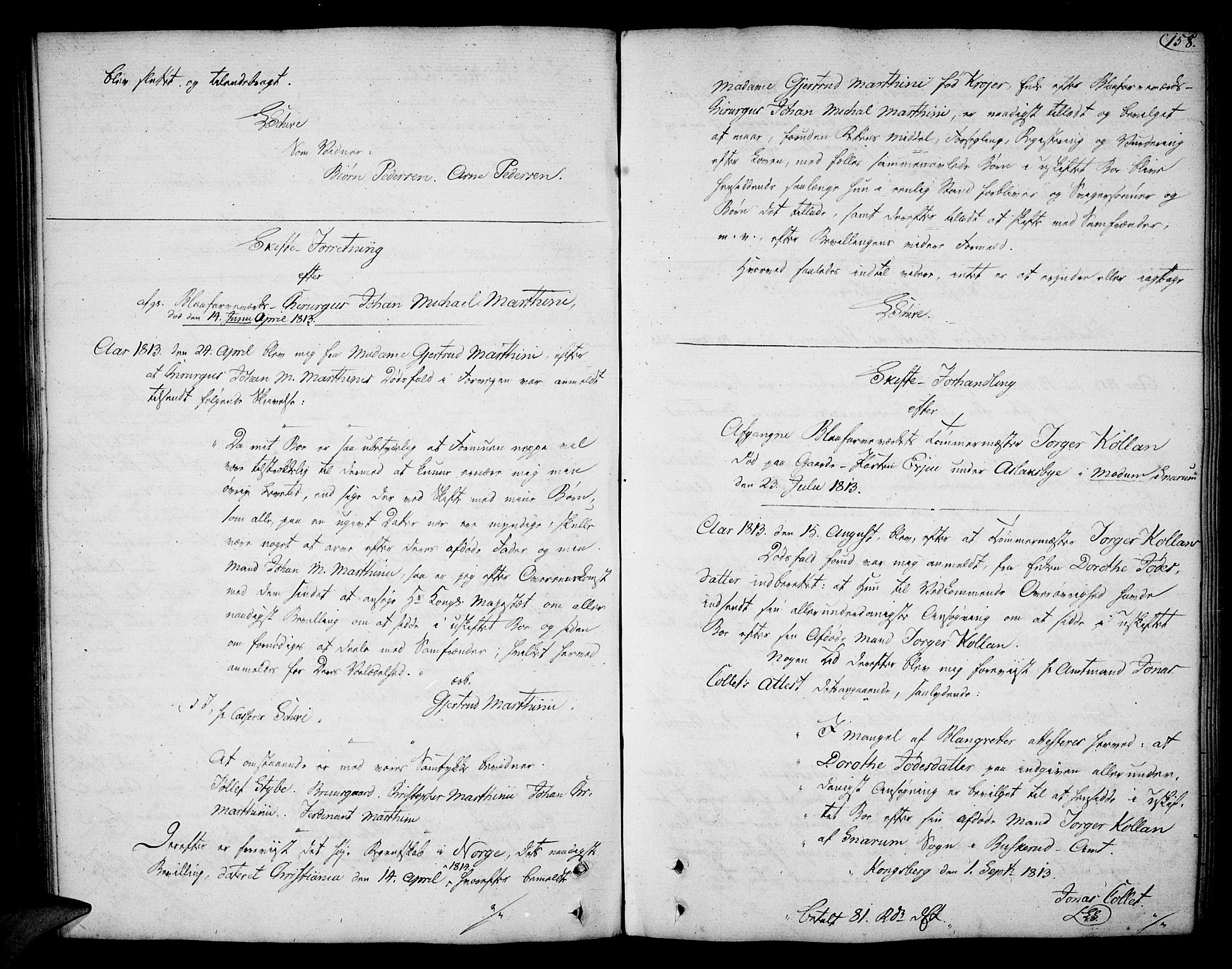 SAKO, Eiker, Modum og Sigdal sorenskriveri, H/Hb/Hba/L0017: Skifteprotokoll, 1780-1824, s. 157b-158a